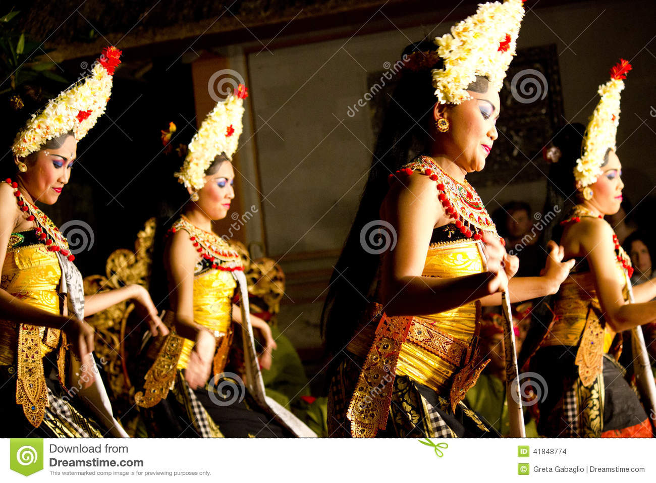 Balinese Traditional Dancers Women Editorial Stock Image
