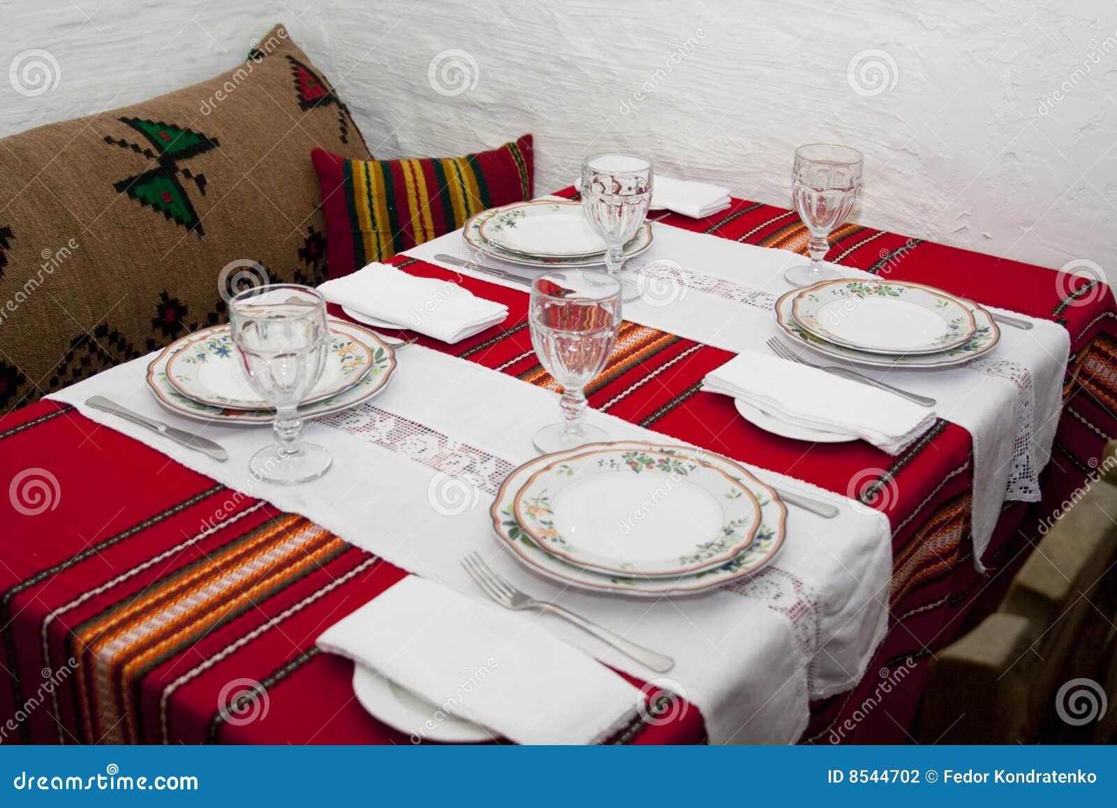 Balkan Style Table Arrangement Stock Photography Image
