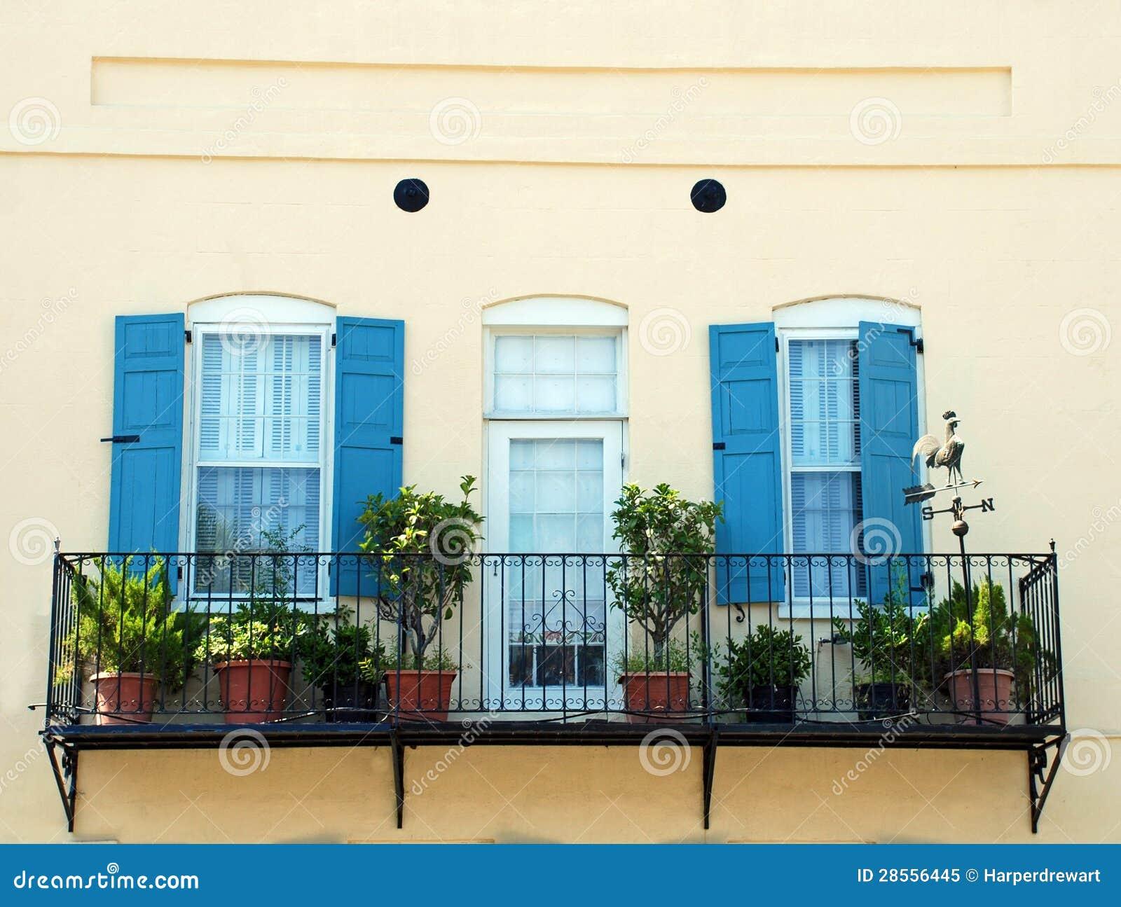 Balkon van het van Zuid- Charleston het Detail van Carolina