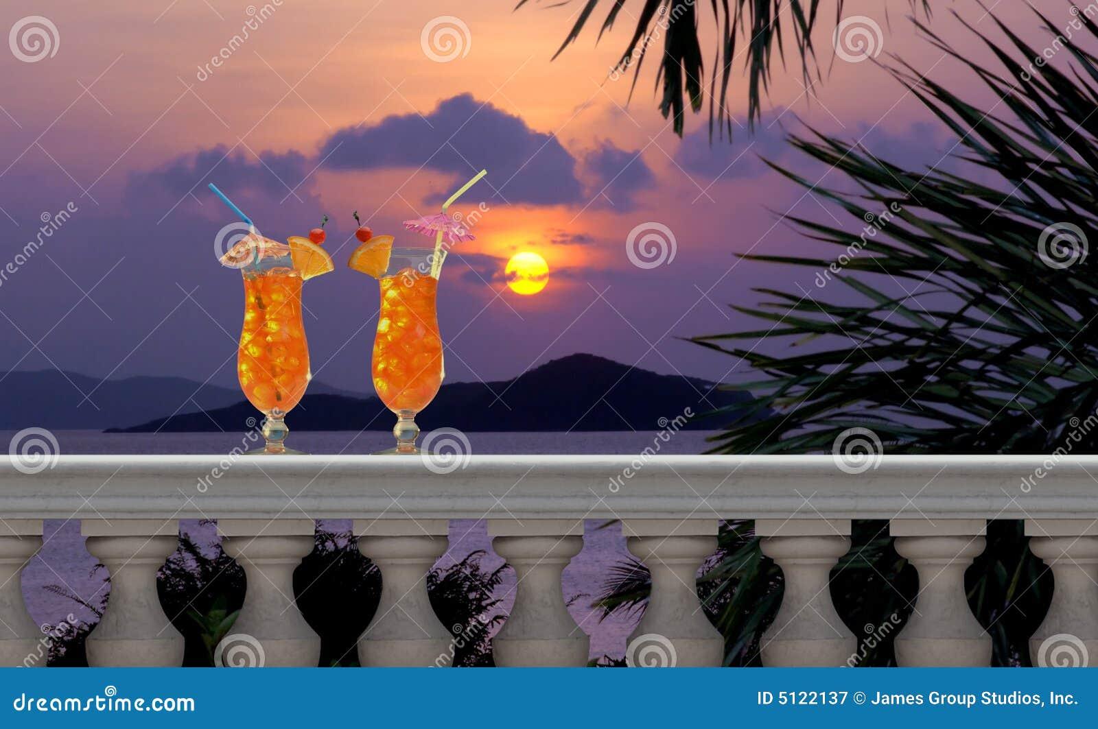 Balkongen dricker tropiskt