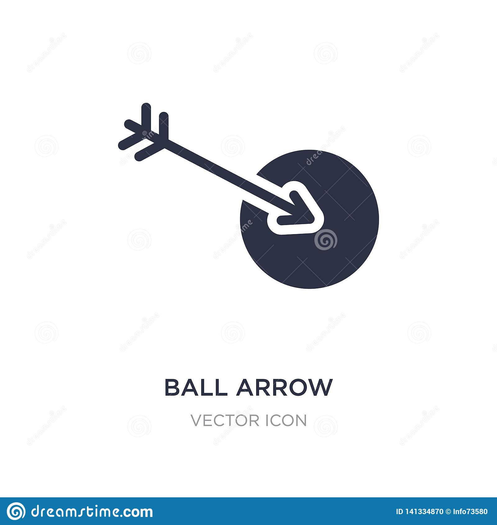 ball arrow icon on white background. Simple element illustration from Sports concept