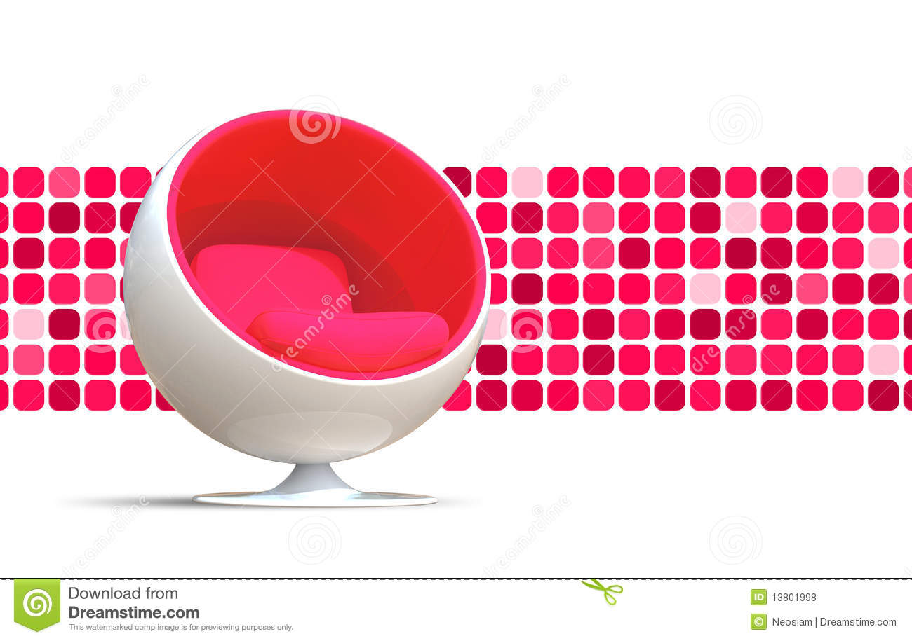 Pink ball chairs - Ball Chair Royalty Free Stock Photos