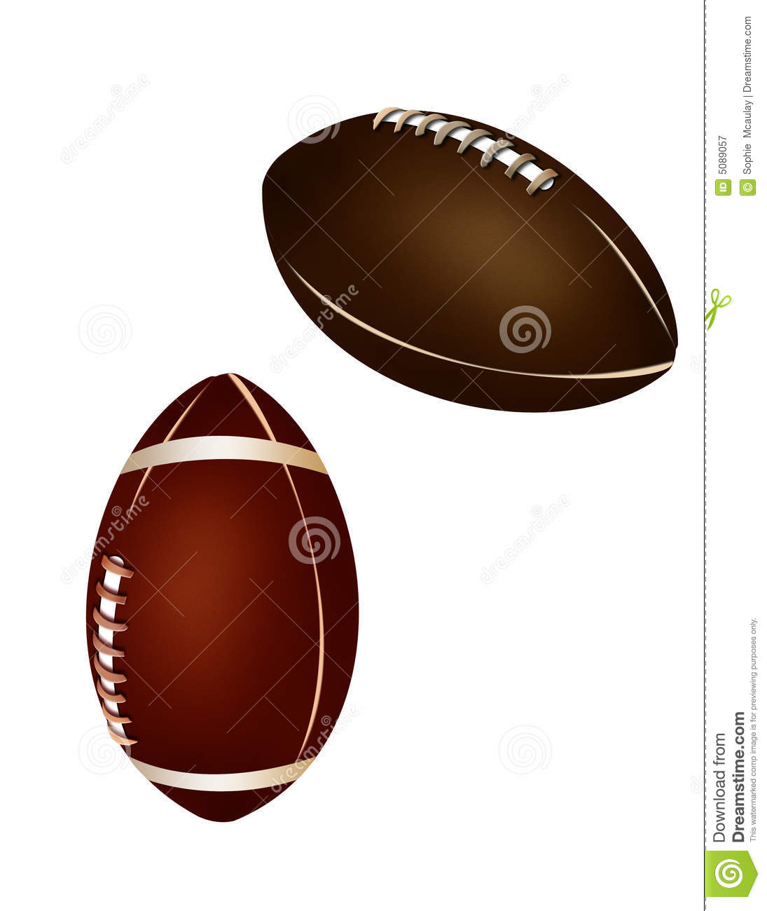 American Football And Rugby Ball Royalty