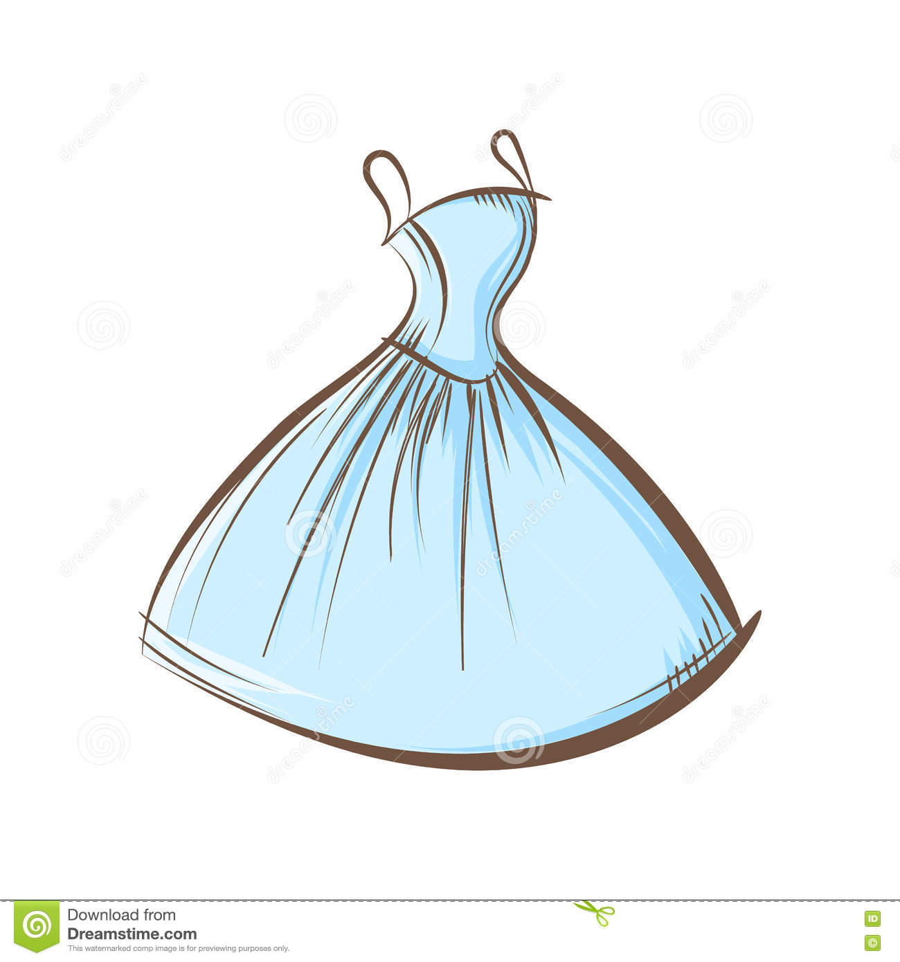 Ball gown hand drawing stock vector. Illustration of clothing - 72942638