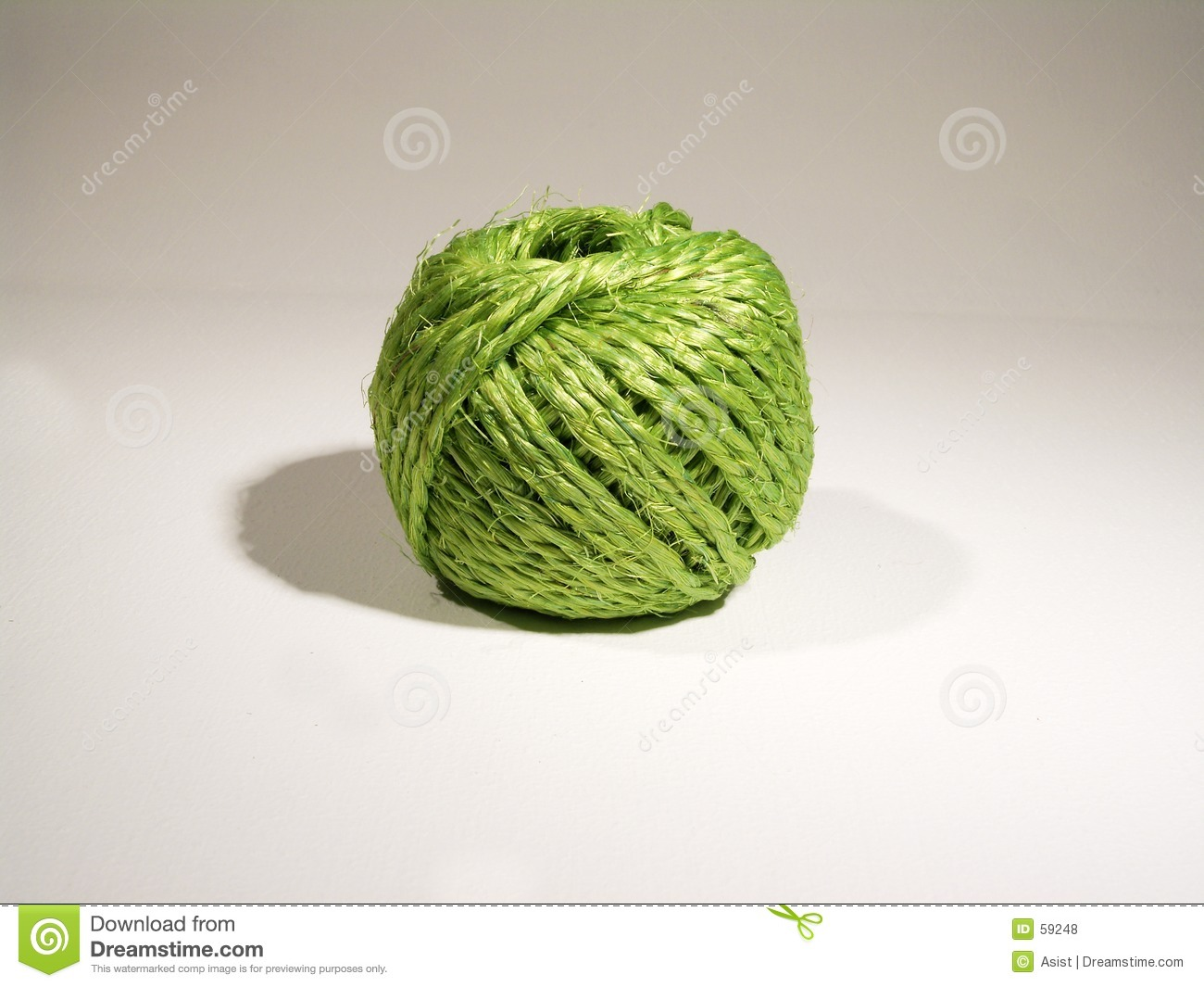 Ball Of Green String Stock Photo Image Of Green Spindle