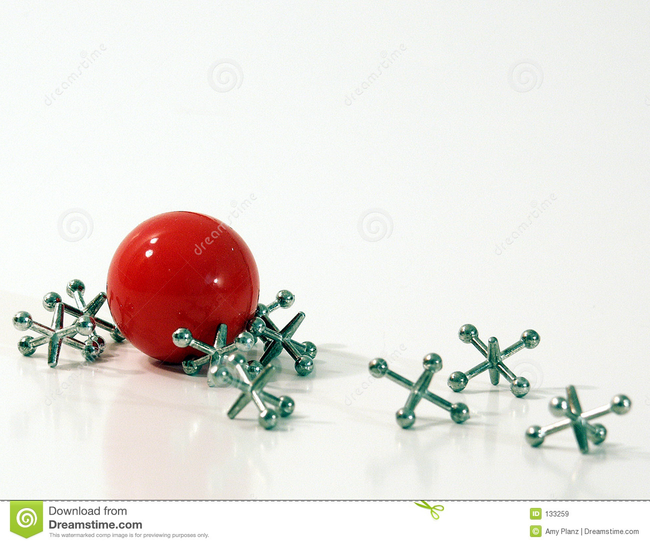 ball and jacks royalty free stock images