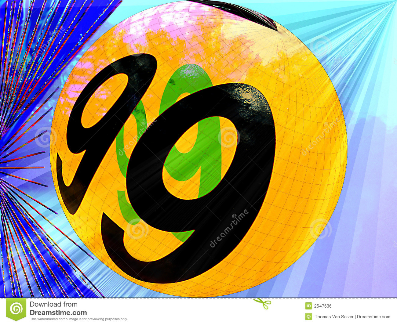 Ball Number 99 Royalty Free Stock Image