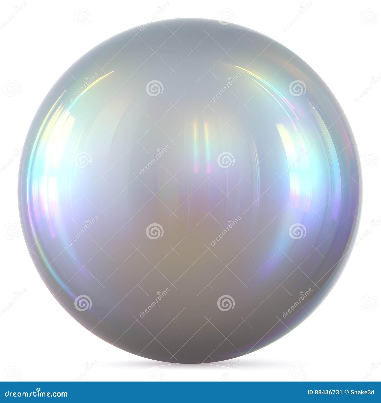 Ball silver sphere chrome white round button basic circle pearl