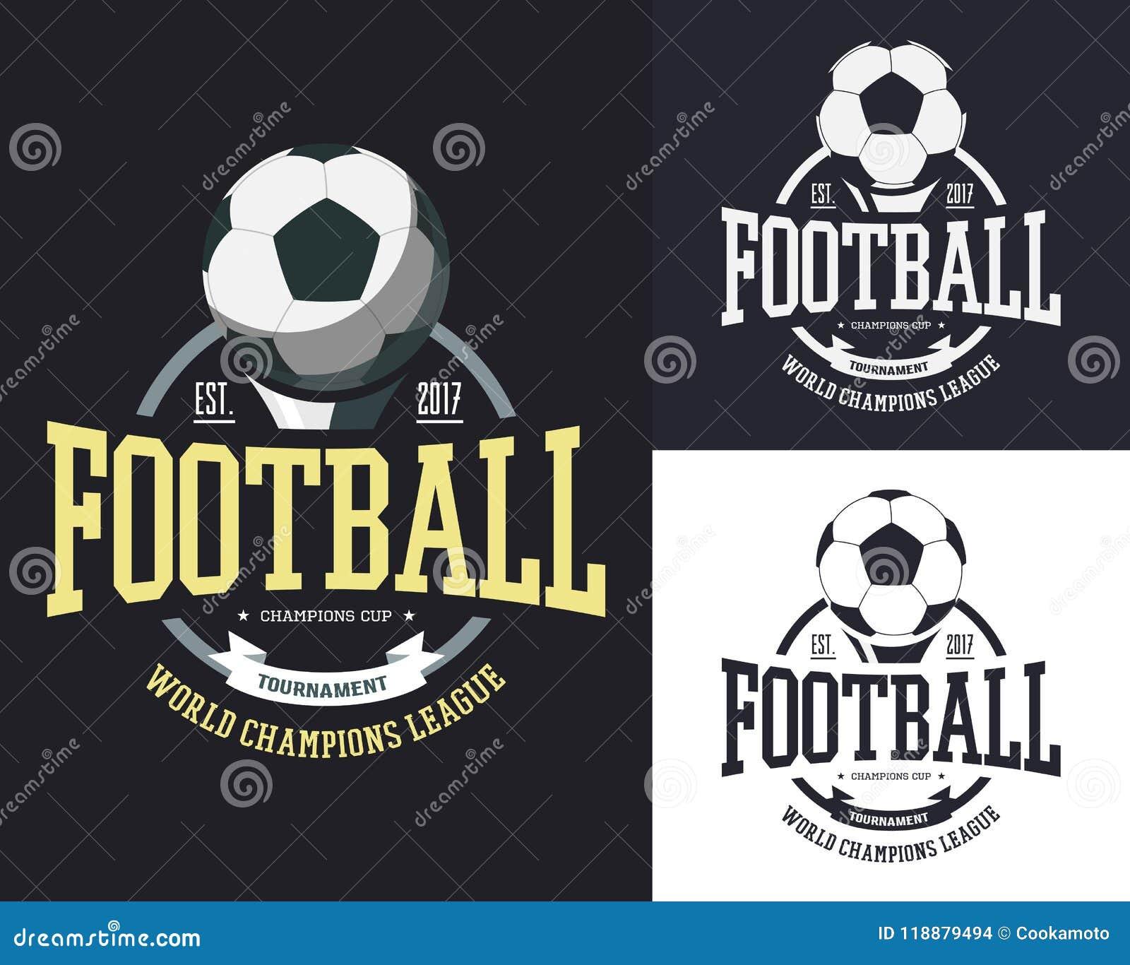 Ball For Soccer Or Football For Team T Shirt Stock Vector