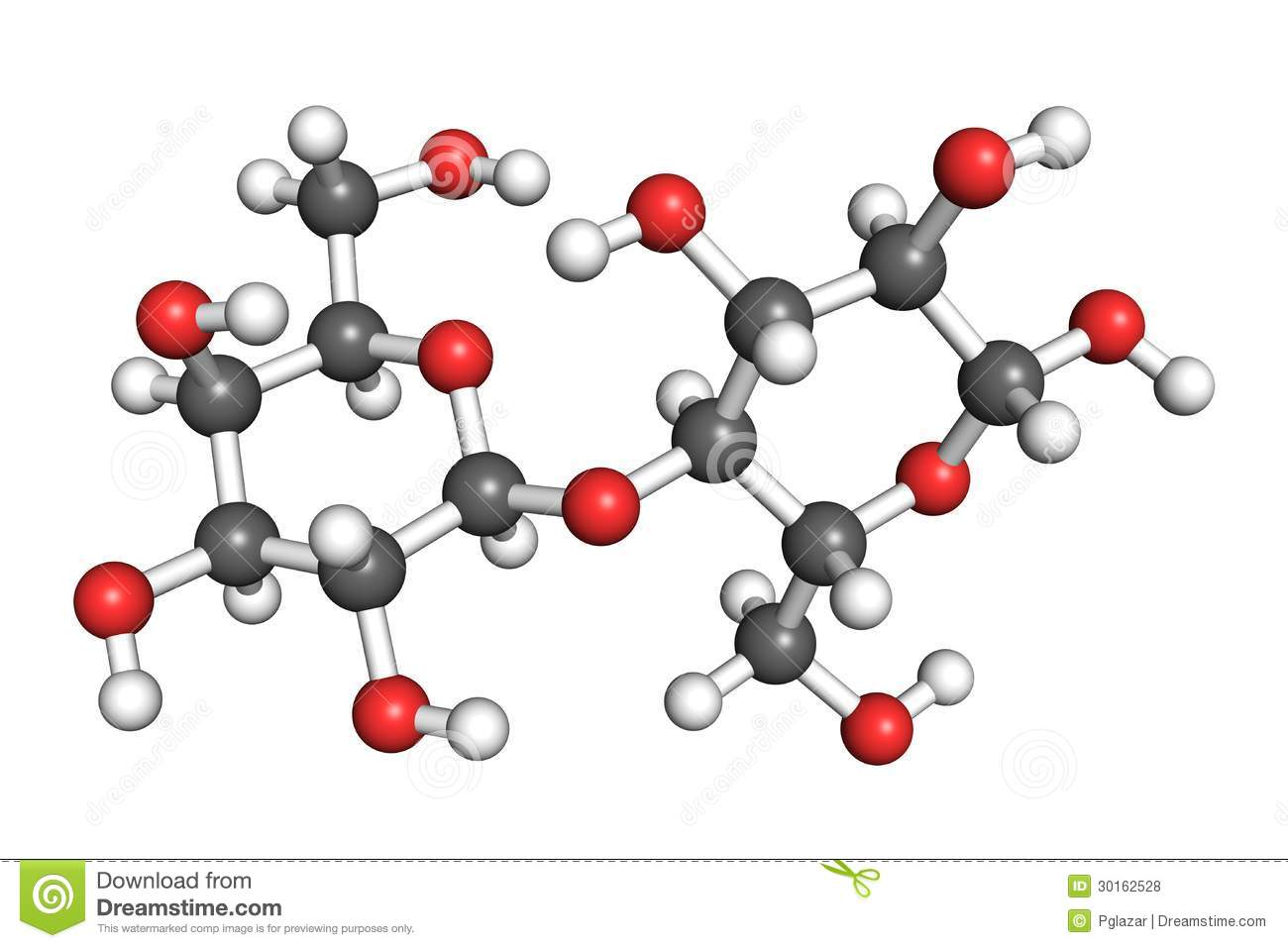 Lactose Molecule Royalty Free Stock Photos - Image: 30162528