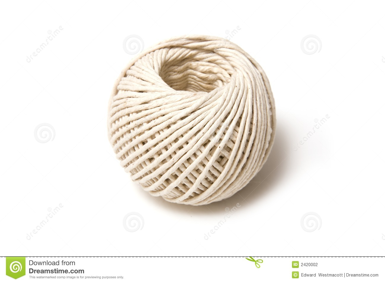 Ball Of White String Stock Photography Image 2420002