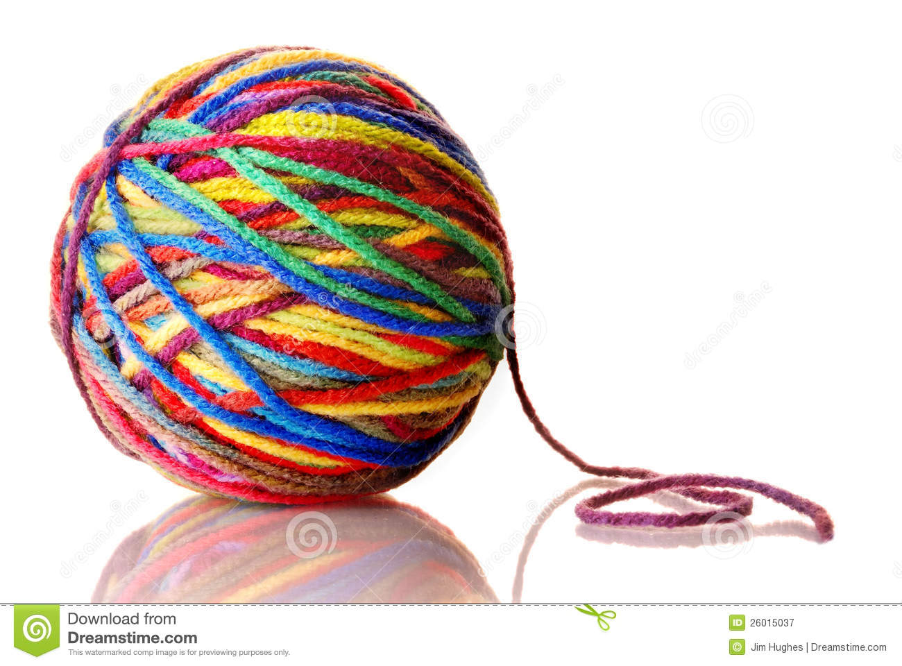 Royalty Free Stock Photography: Ball of yarn. Image: 26015037