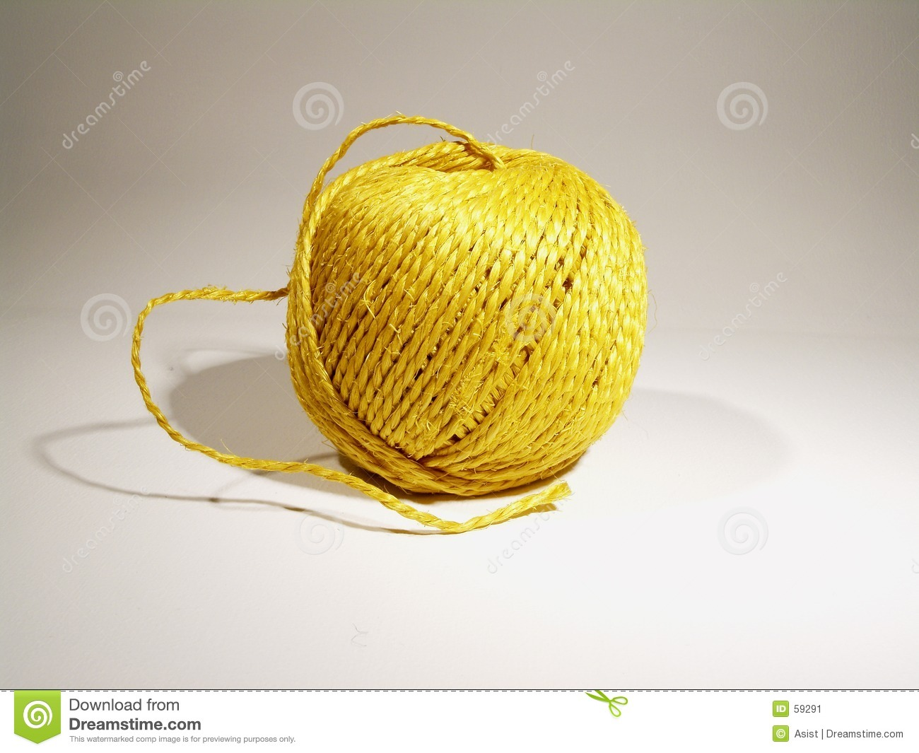 Ball of yellow string