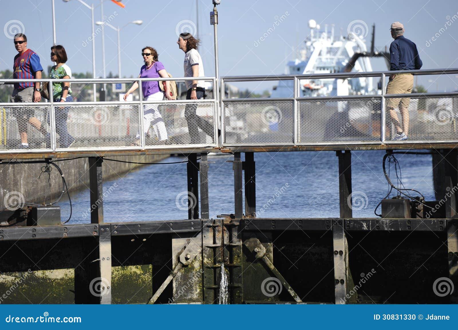 Ballard Locks, Seattle, U.S.A.