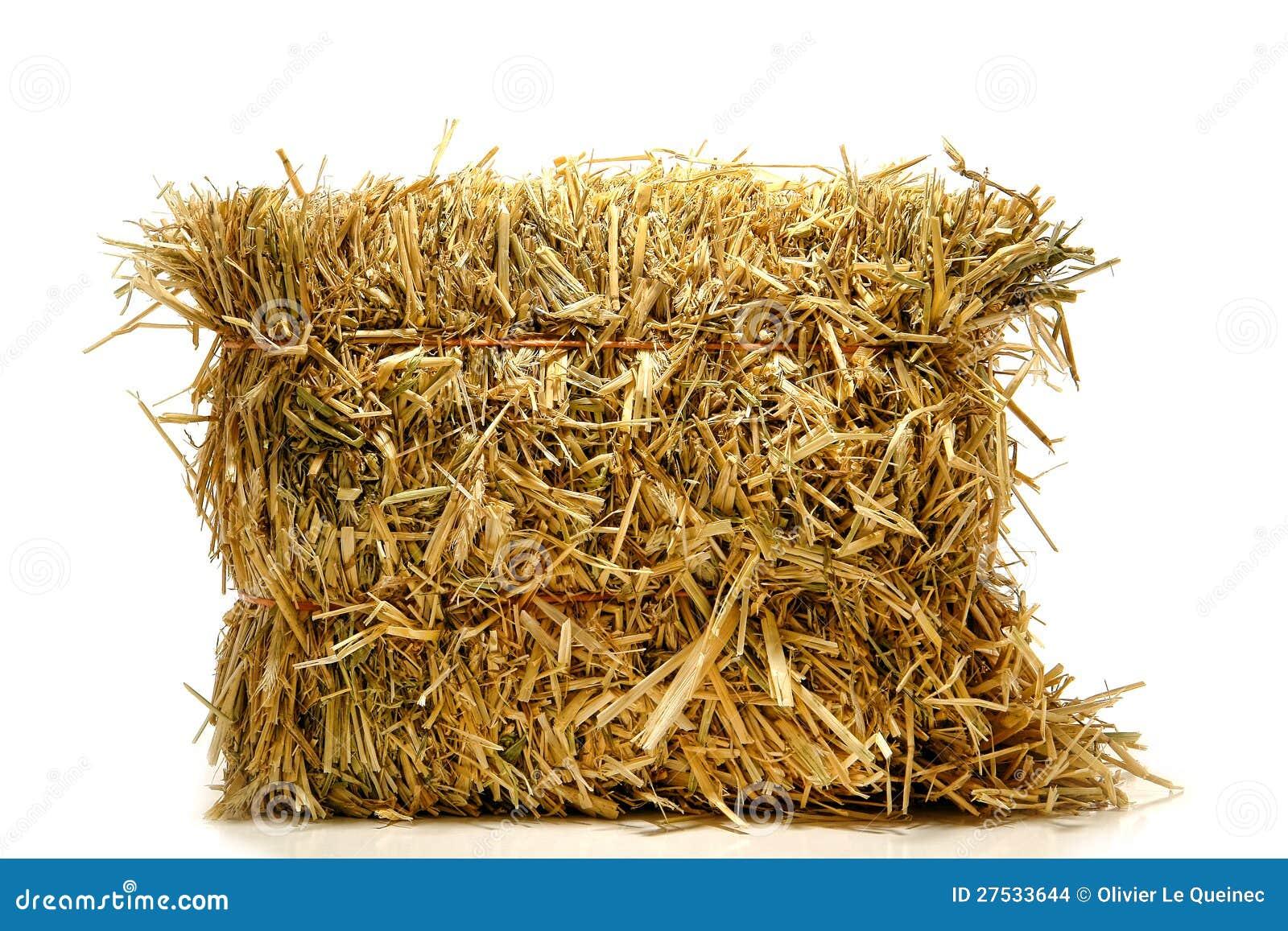 balle de foin agricole normal de paille au dessus de blanc images stock image 27533644. Black Bedroom Furniture Sets. Home Design Ideas