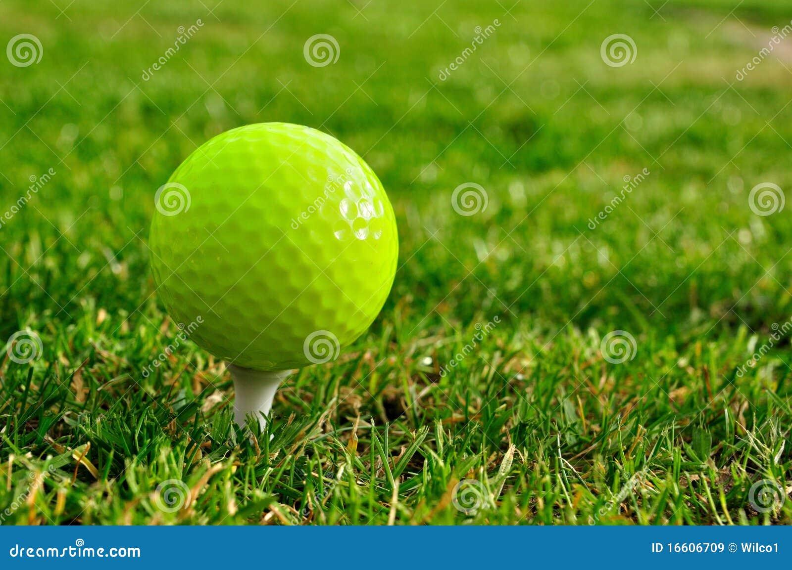 balle de golf verte images libres de droits image 16606709. Black Bedroom Furniture Sets. Home Design Ideas