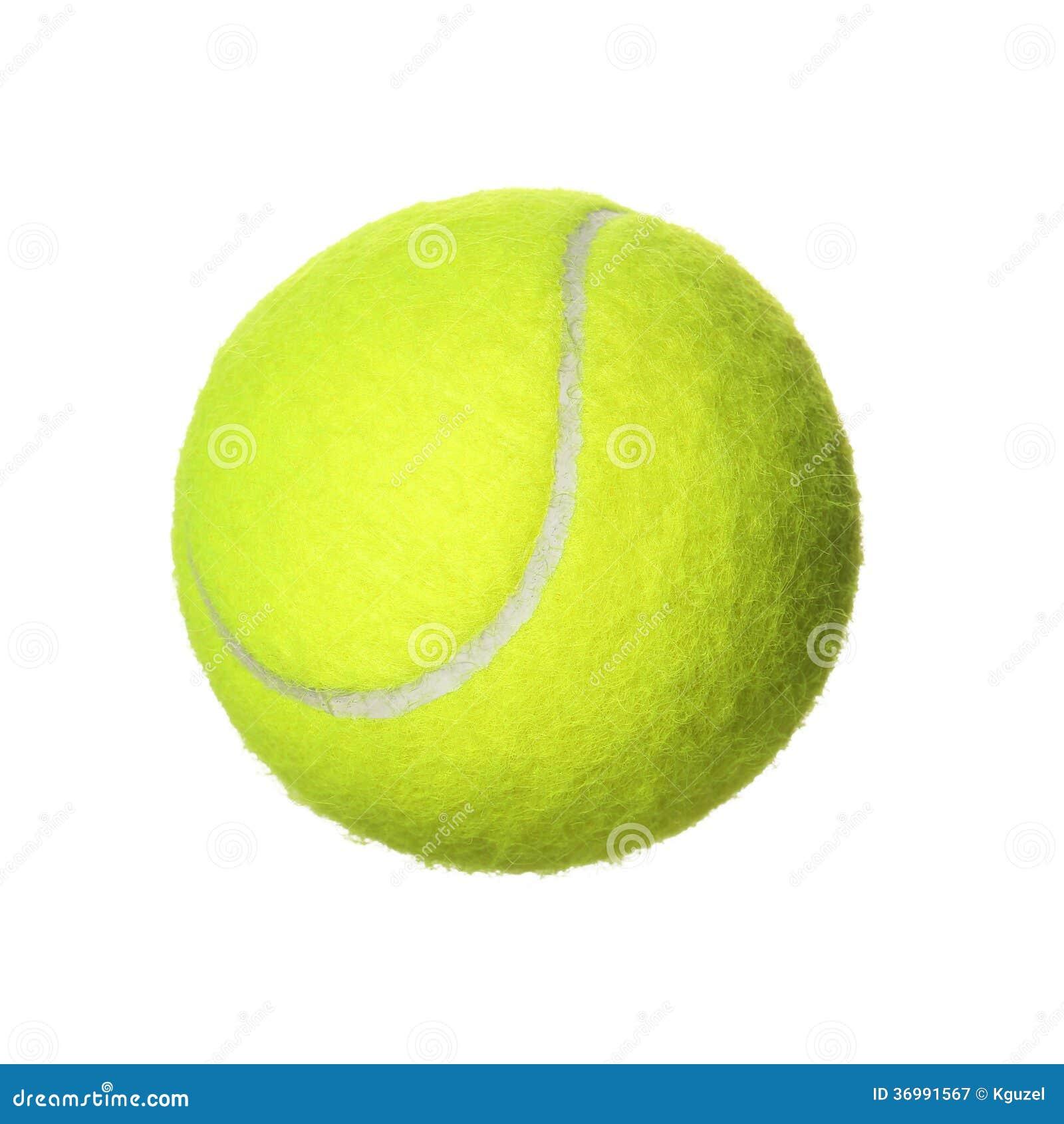 Balle de tennis d 39 isolement sur le fond blanc image stock image 36991567 - Sterke witte werpen en de bal ...