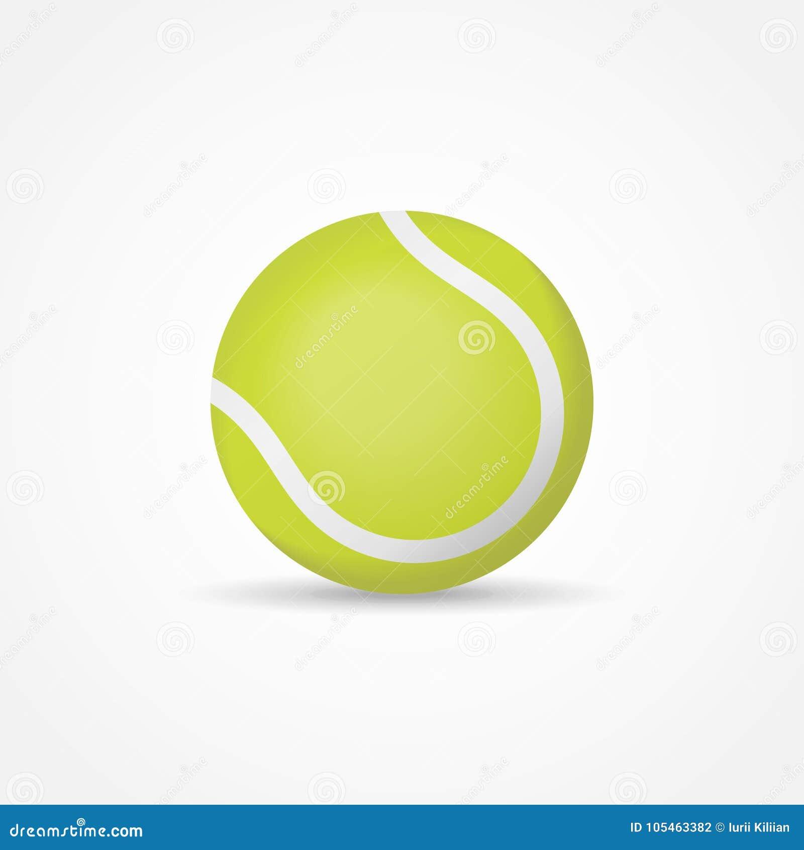 21313a9e2c92c Balle De Tennis Verte D'isolement Sur Le Fond Blanc Illustration de ...
