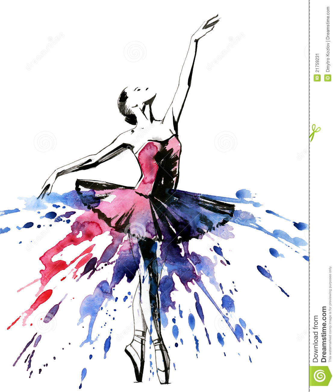 Beautiful ballerina girl (Ekv painting).
