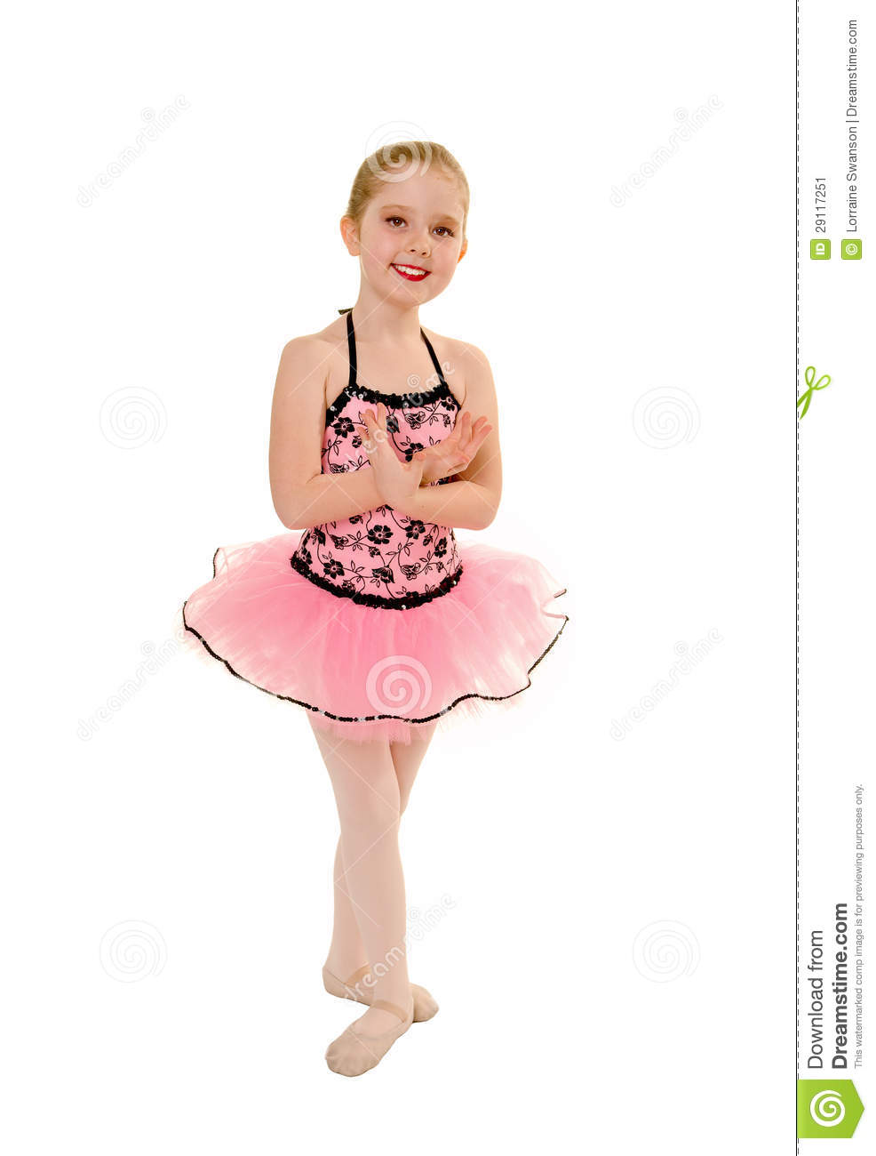 Ballerina Child In Pink Tutu Stock Image