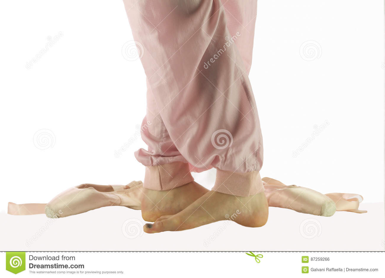 Ballerina feet standing in fifth position