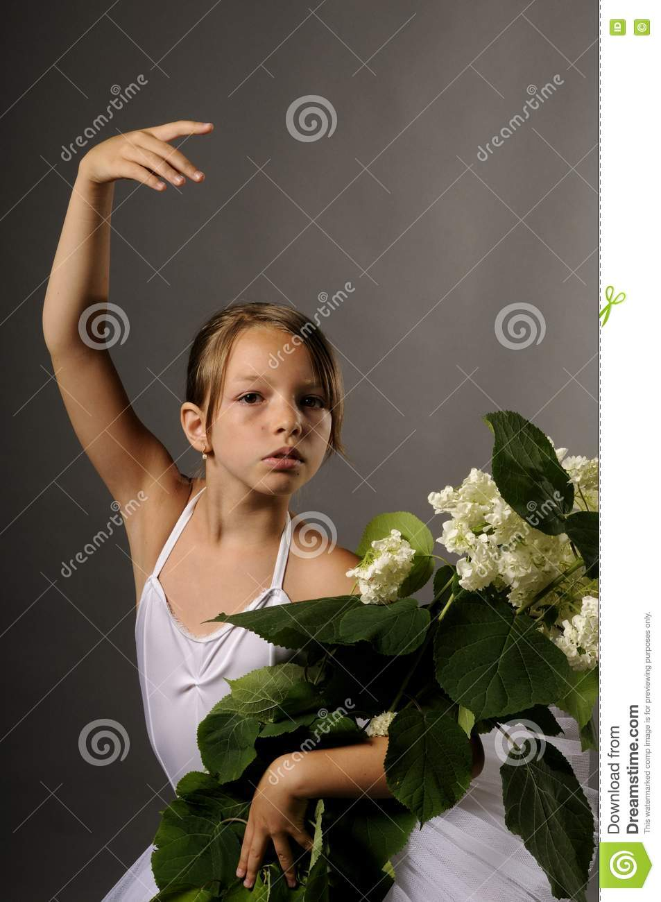 Ballerina with flowers