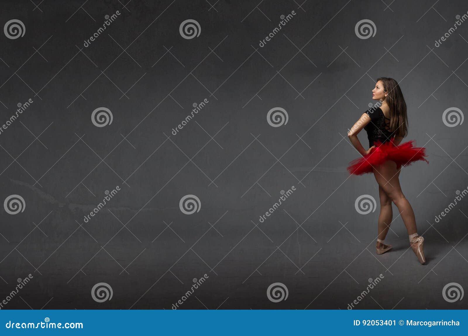 Ballerina i sikt för tillbaka sida