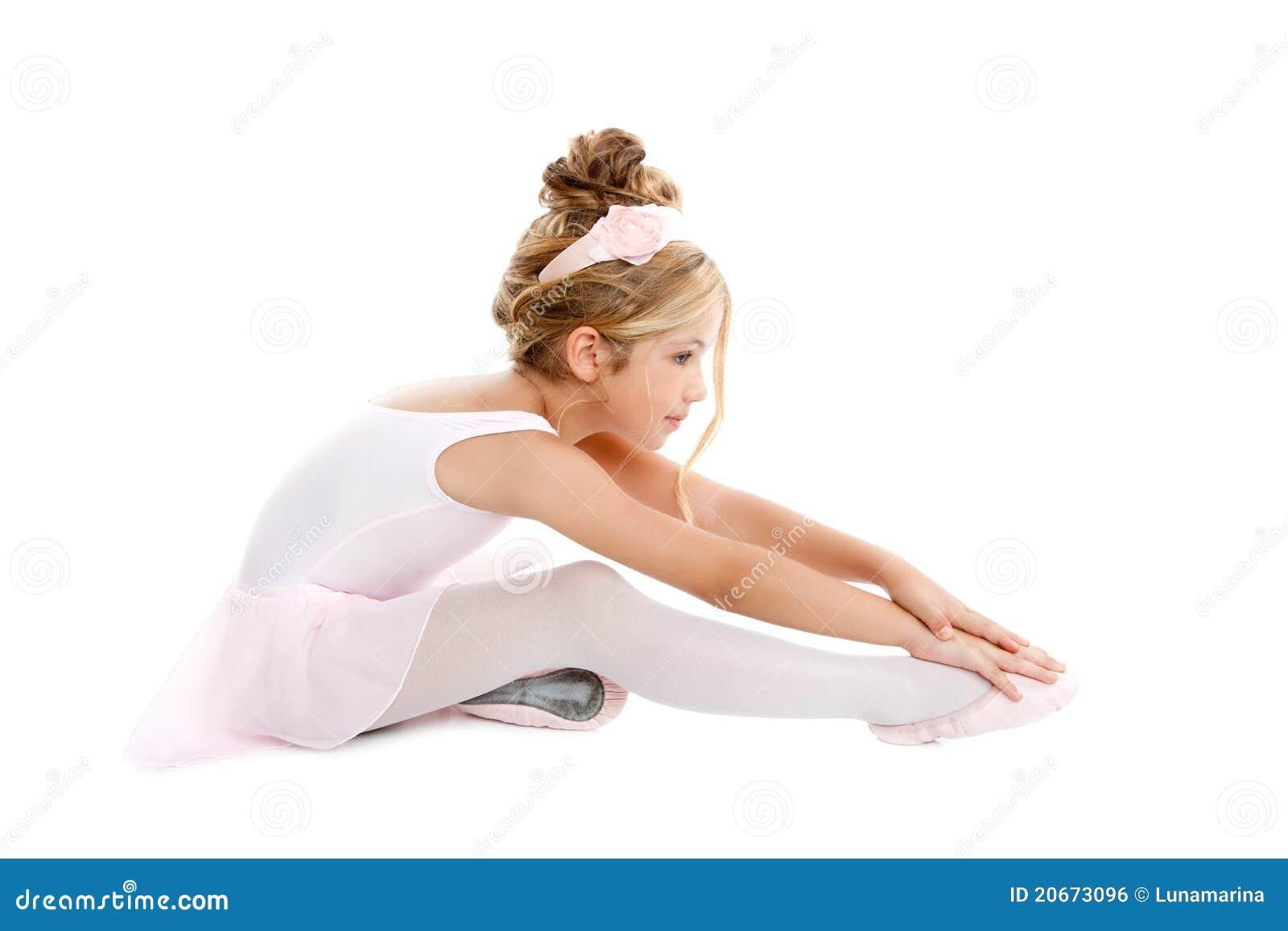 Ballerina Little Ballet Children Stretching Royalty Free Stock Image ...