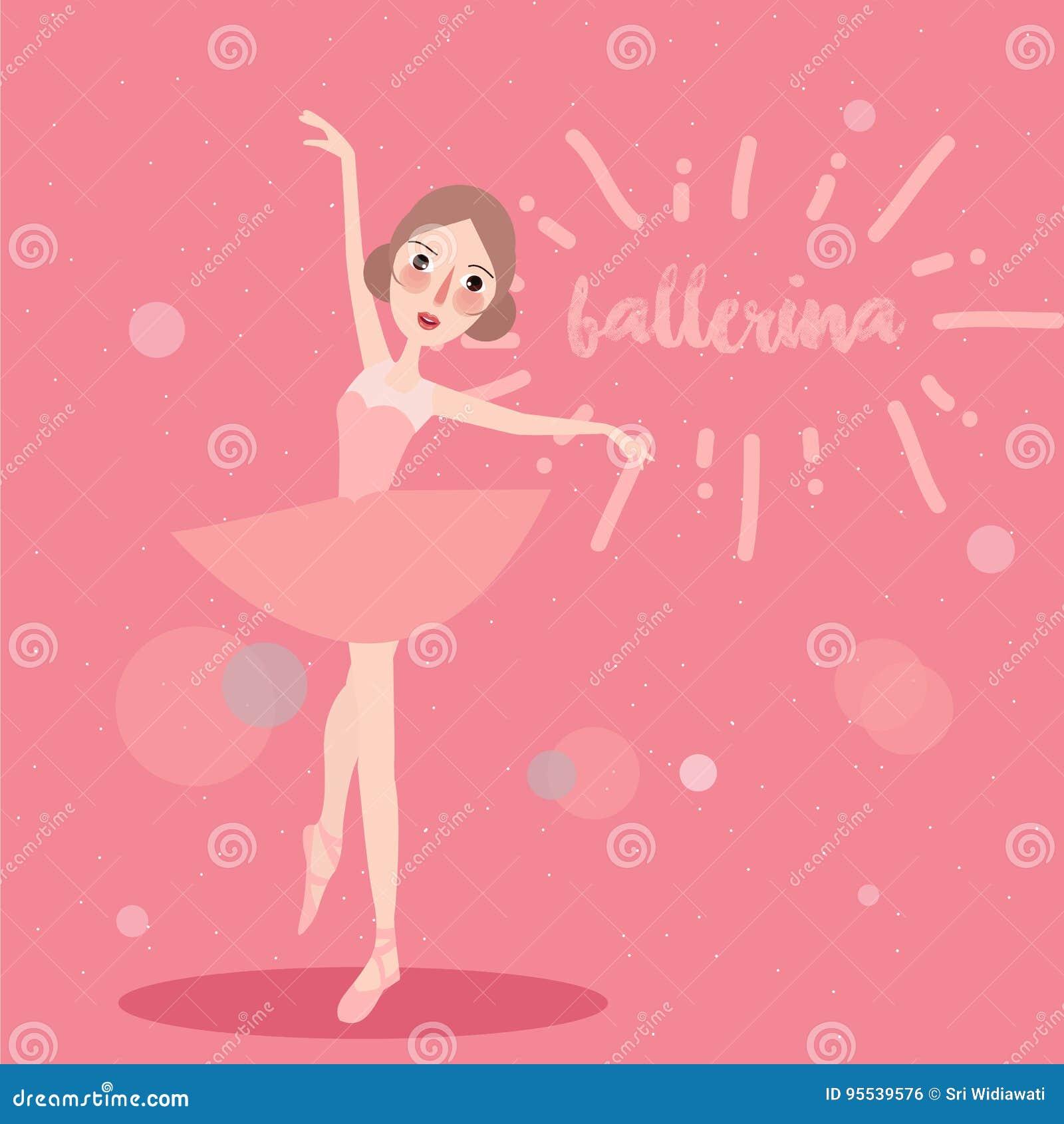 Ballerina little girl wearing ballet tutu dress dancer cute pink