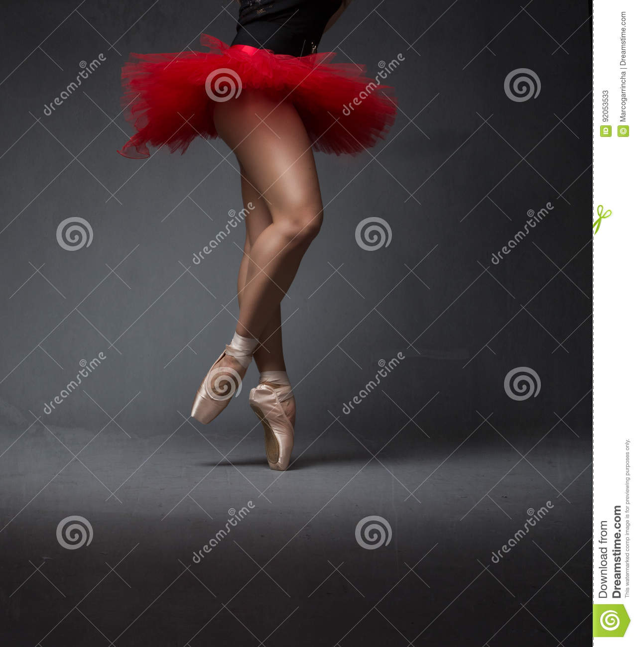 Ballerina movement on point
