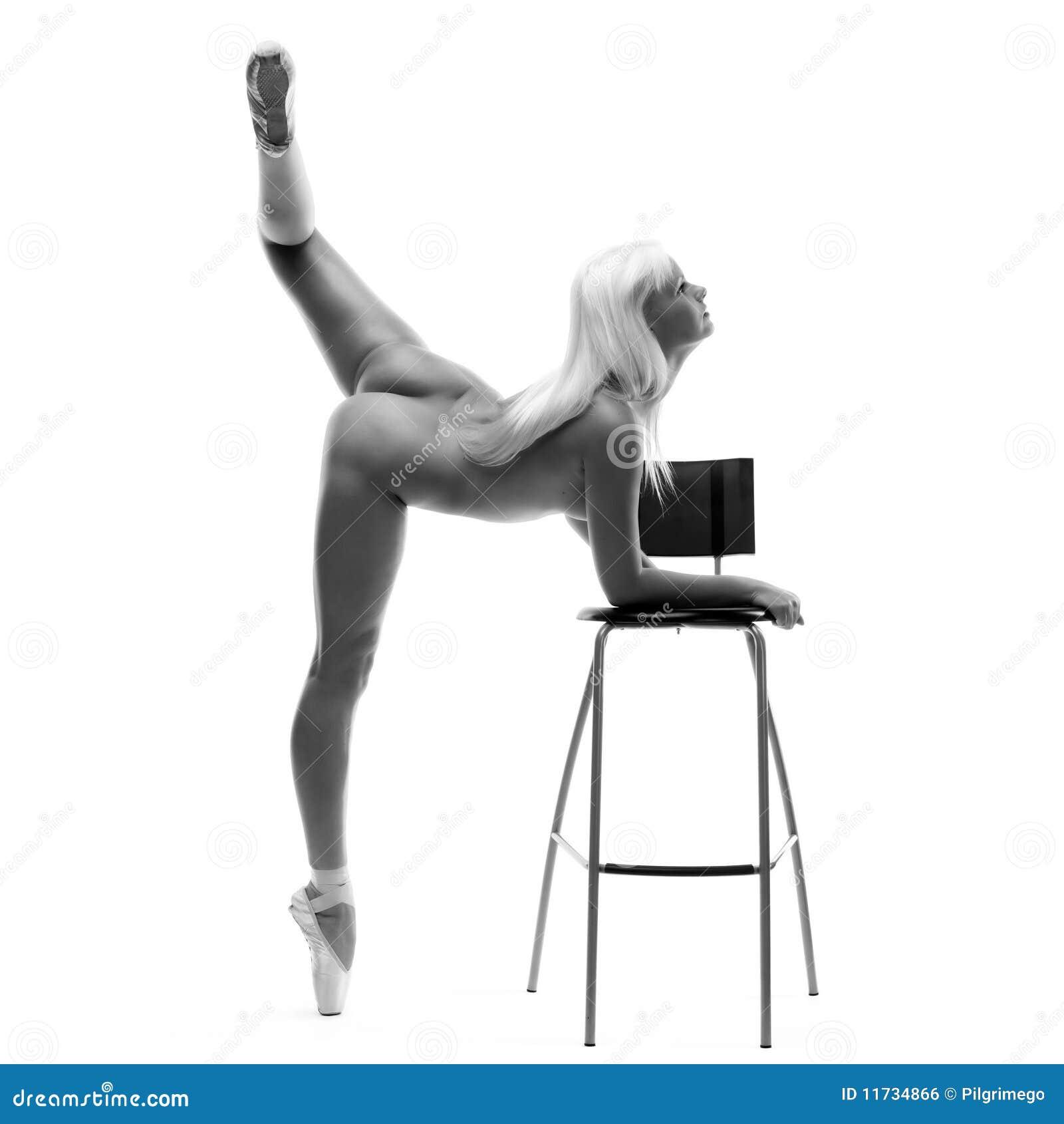 Ballerina nuda fotografia stock. Immagine di nero