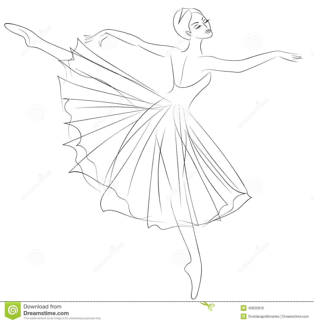 Ballerina Stock Vector. Illustration Of Pose Ballerina - 40825816