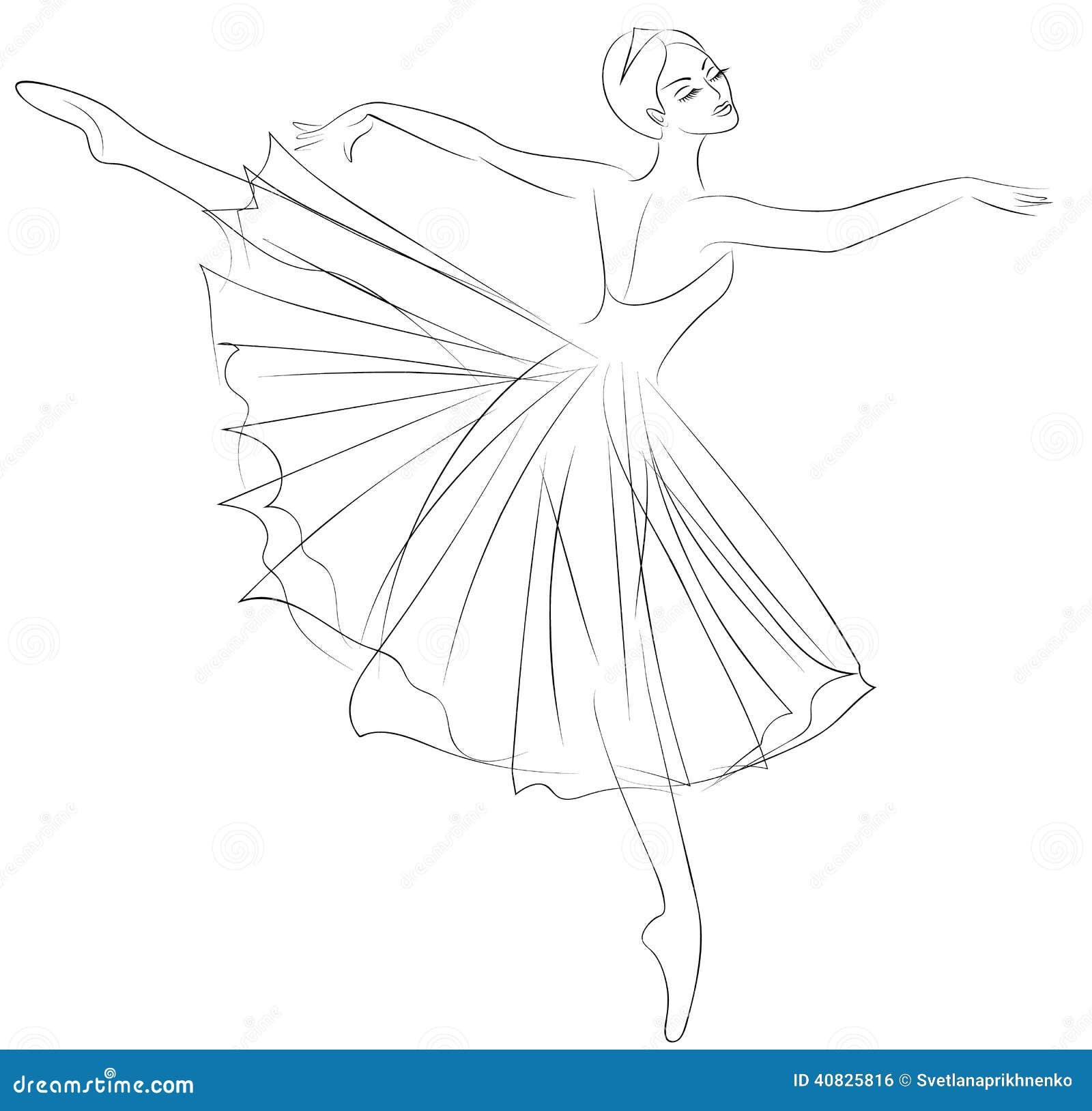 Ballerina Stock Vector Image 40825816