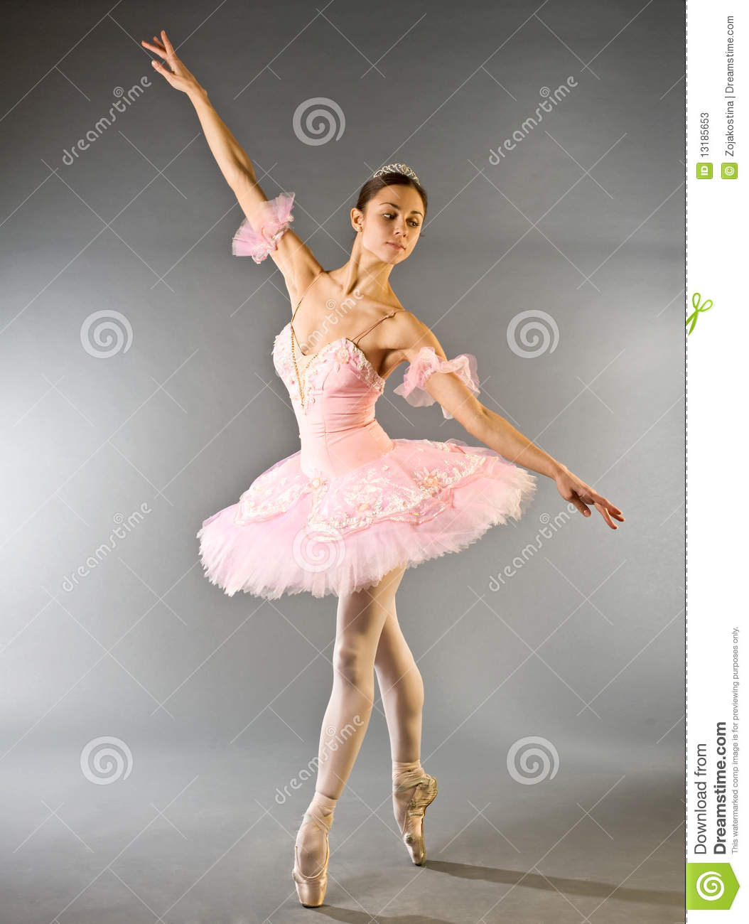 Ballerina s toe dance isolated