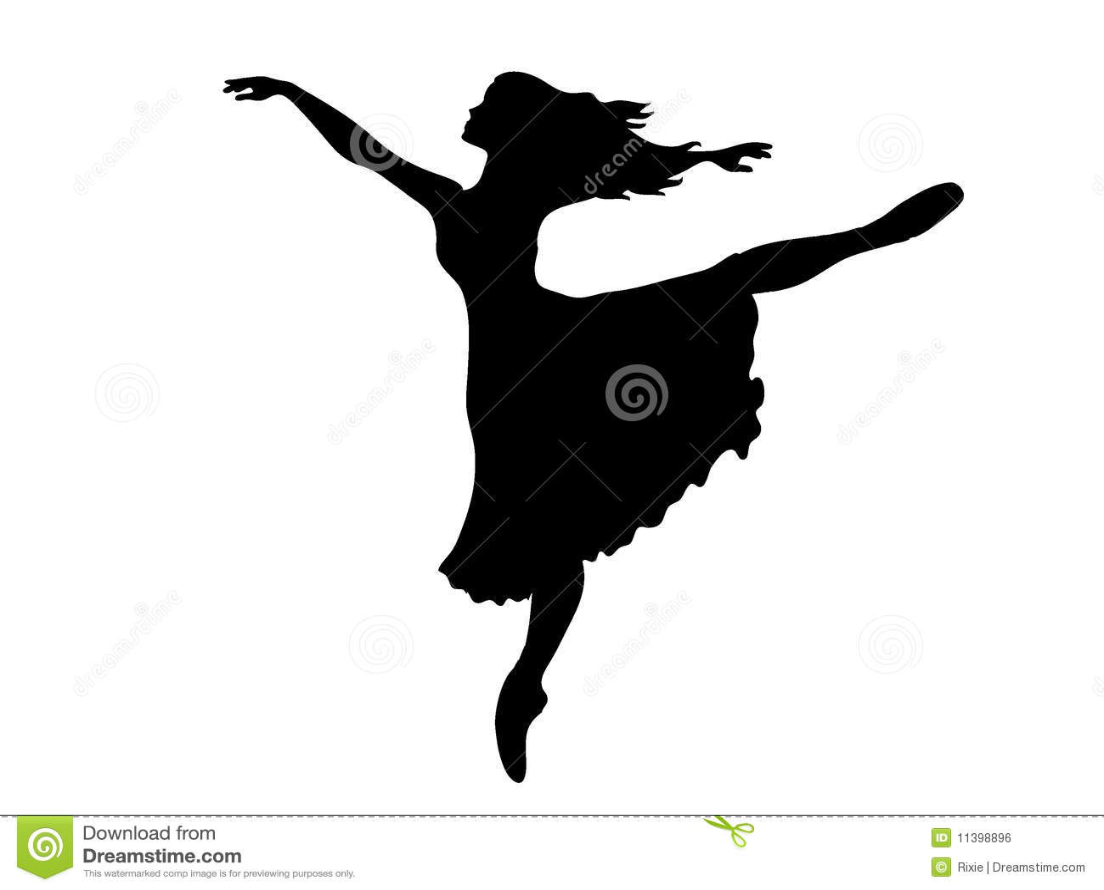Ballerina Silhouette Stock Vector. Illustration Of