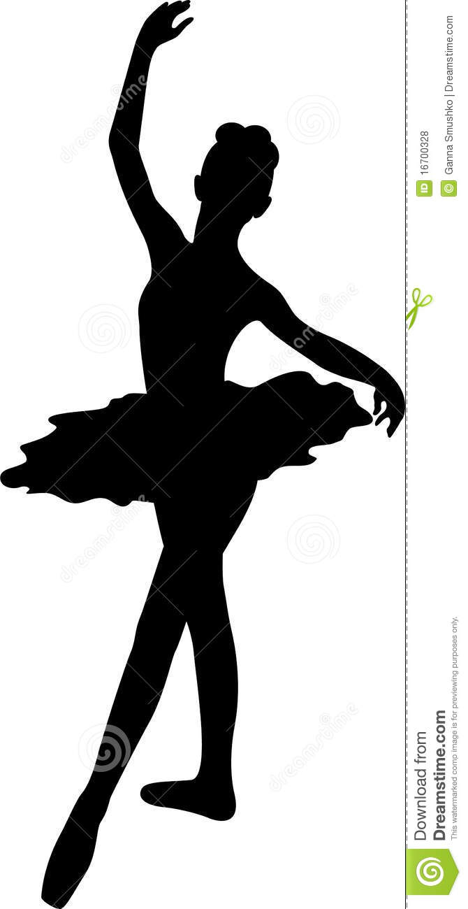 Ballerina Silhouette Royalty Free Stock Photos - Image: 16700328