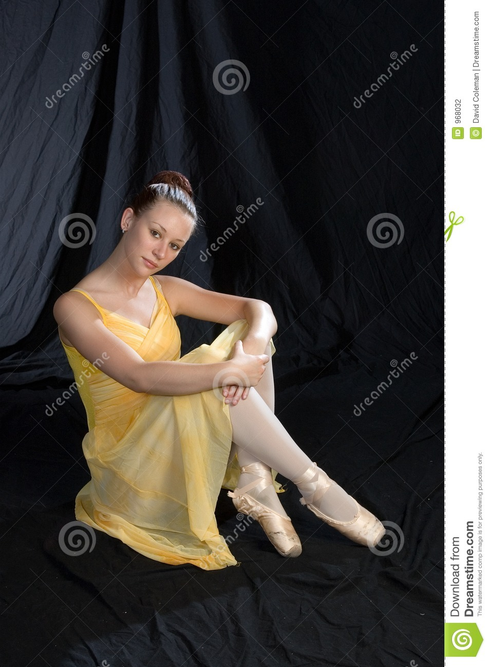 Ballerina Sitting Stock Photography Image 968032