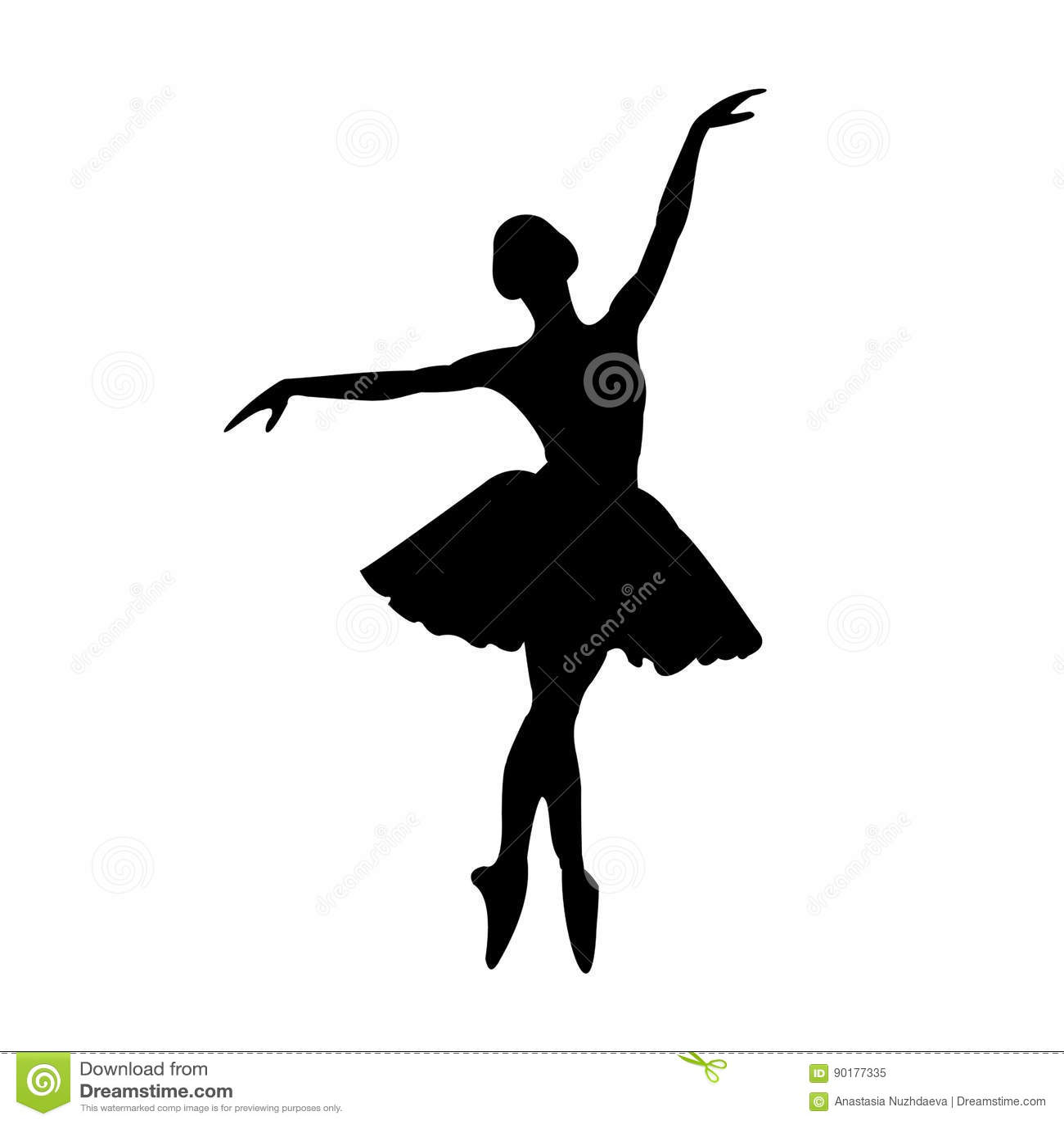 ballerina stock vector illustration of song graphics 90177335