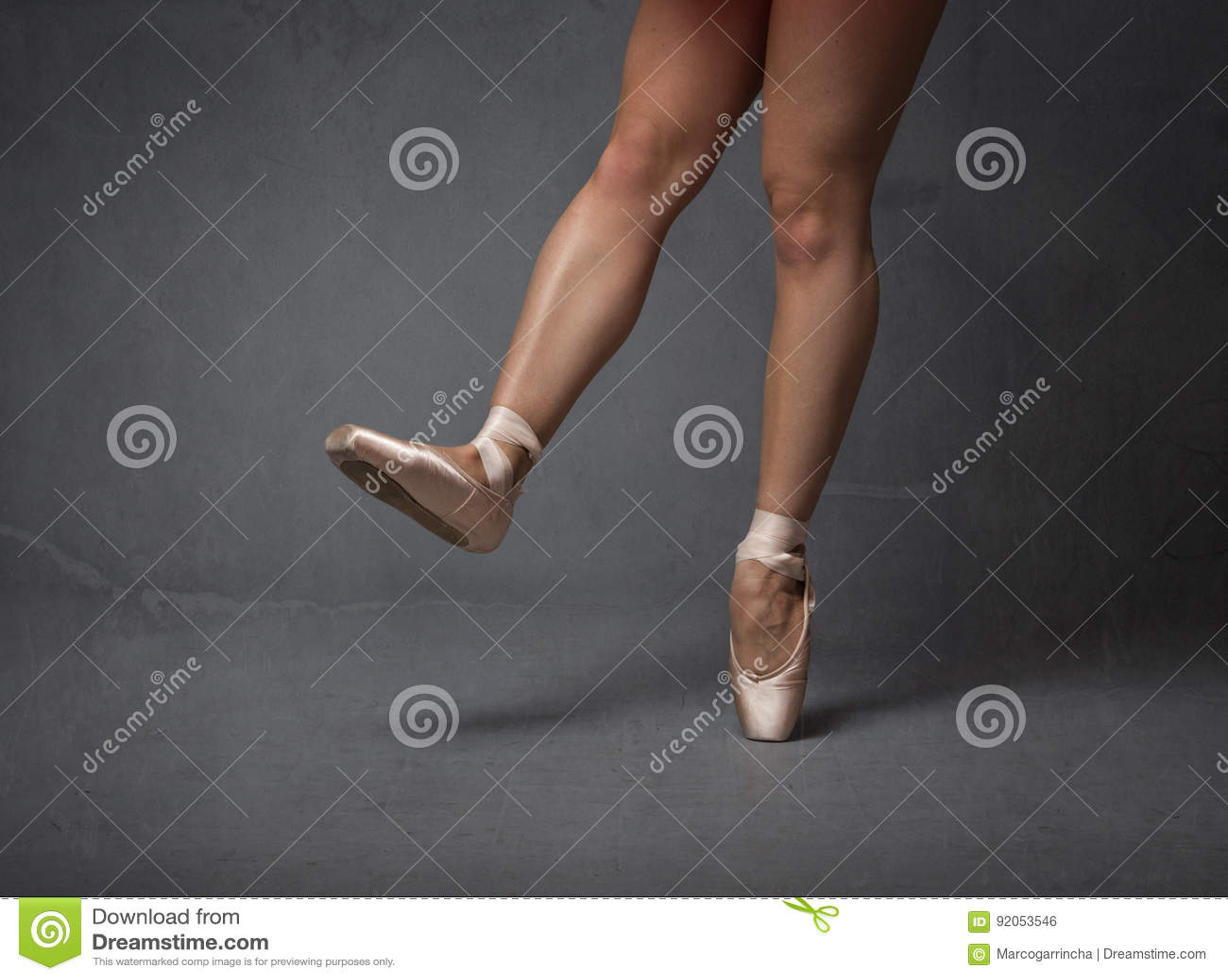 Ballerinafüße schließen oben