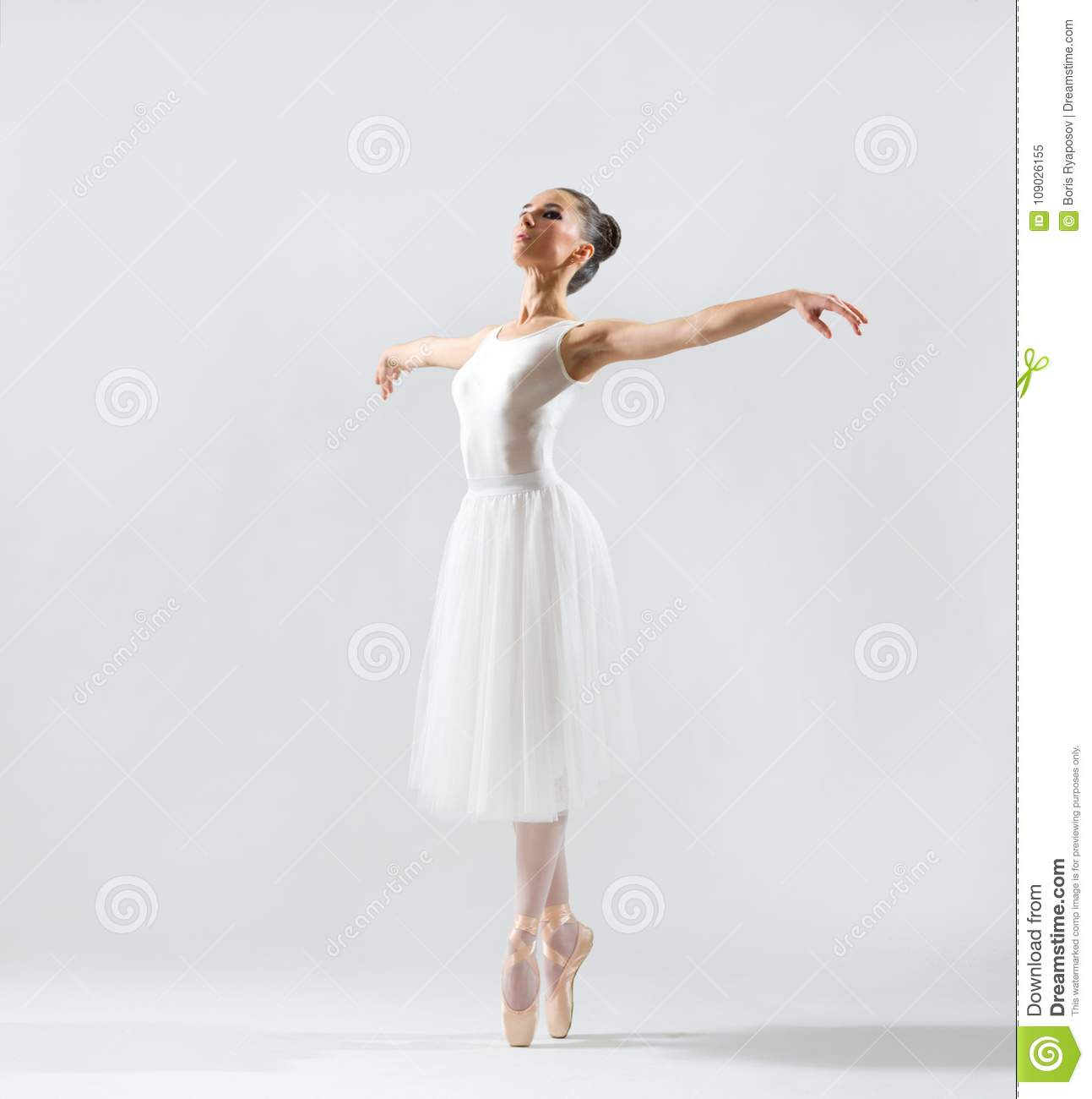 Ballerine sur la version grise