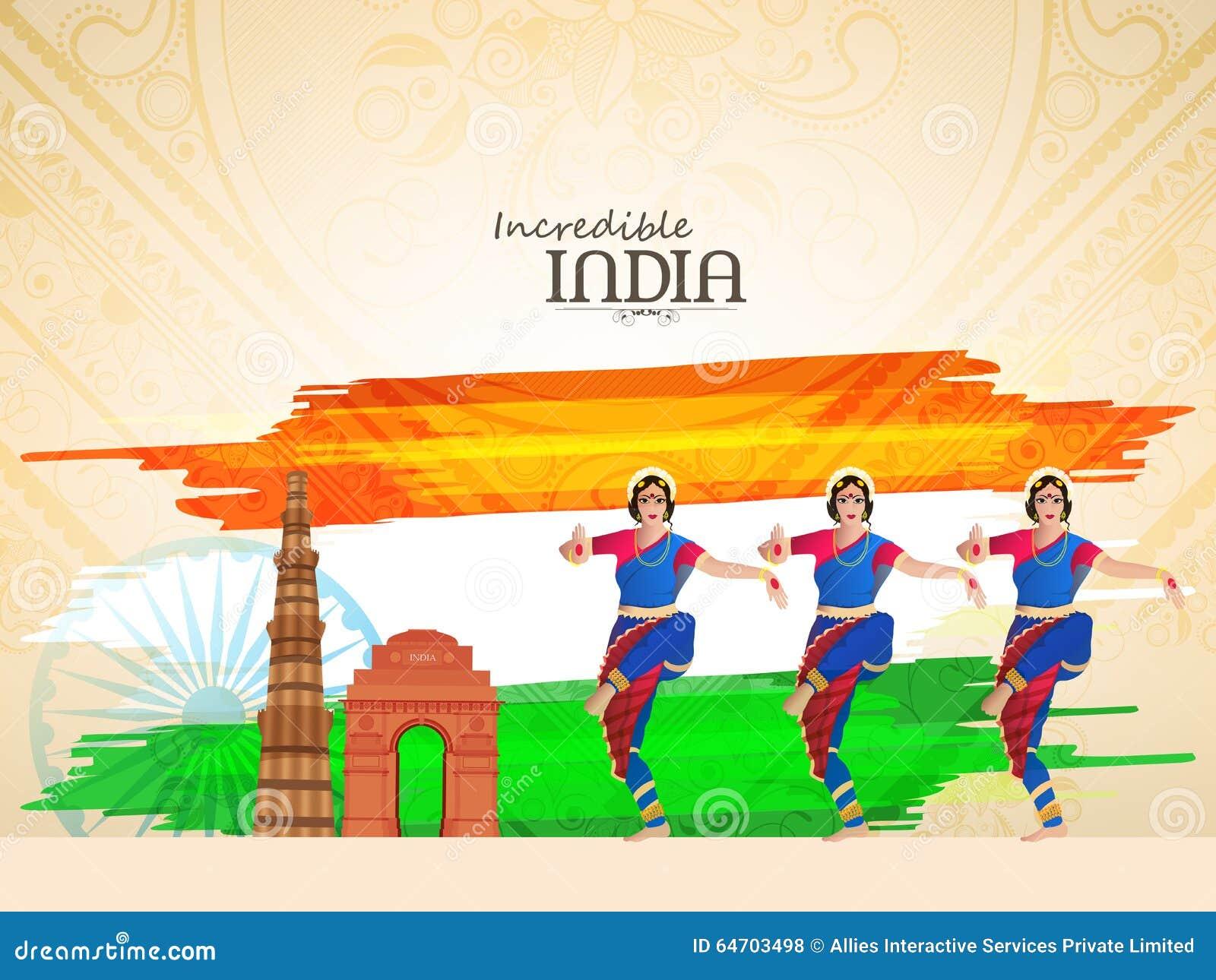 Ballerini classici per la celebrazione indiana di giorno della Repubblica