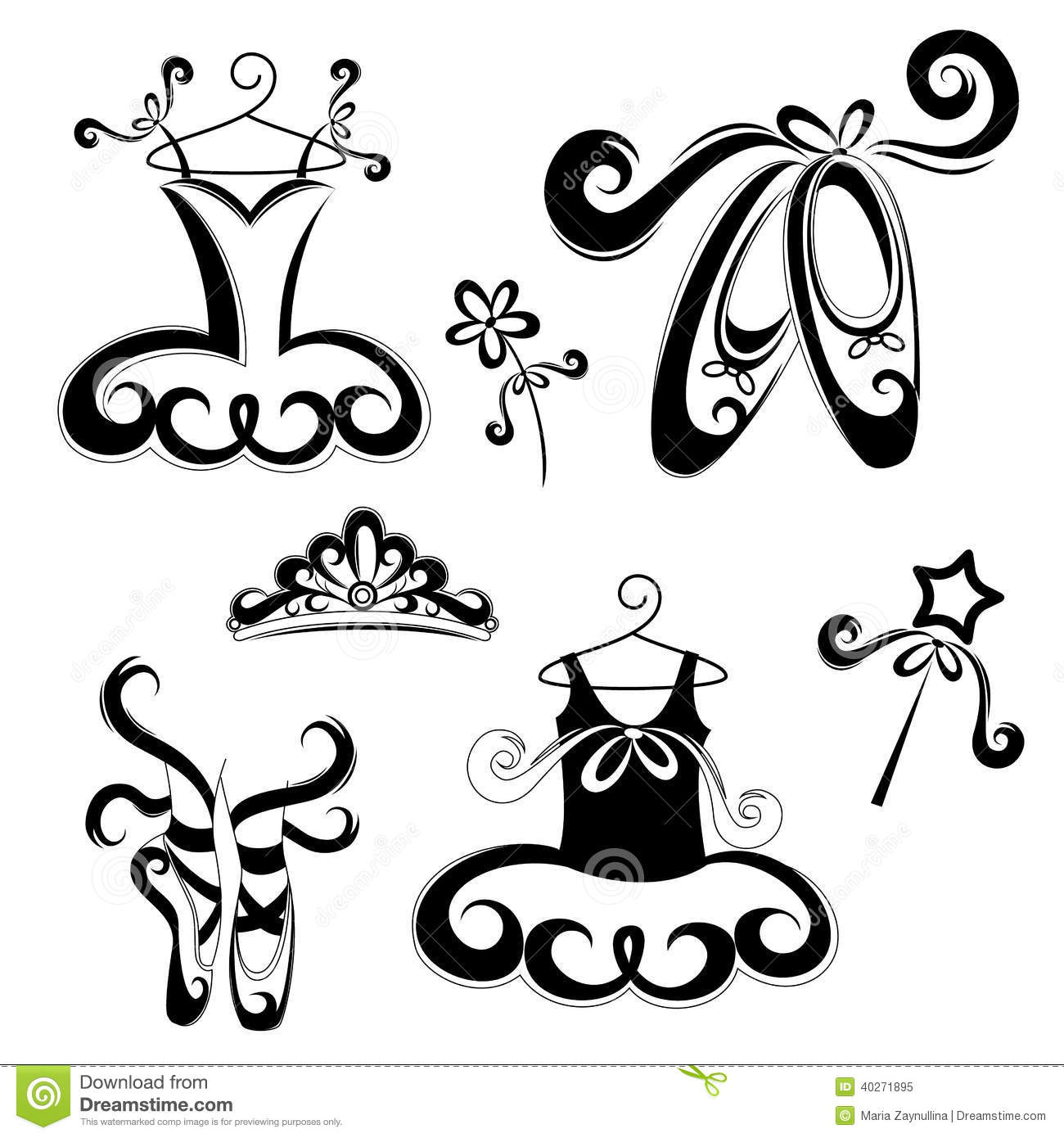 Royalty Free Stock Photo Ballet Accessories Set Drawing Design Element Decoration Image40271895 on dress shoes clip art