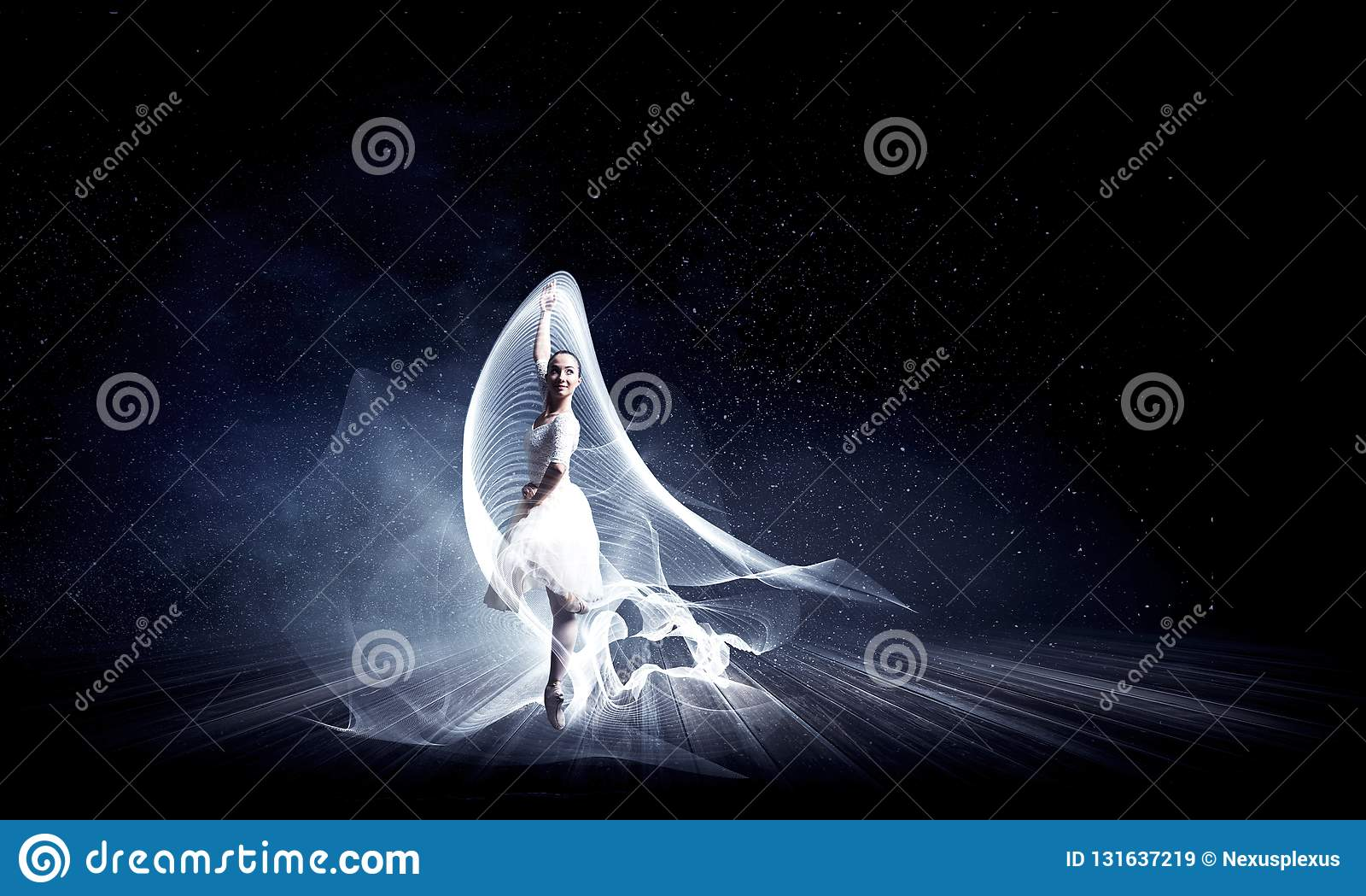 Ballet dancer in jump