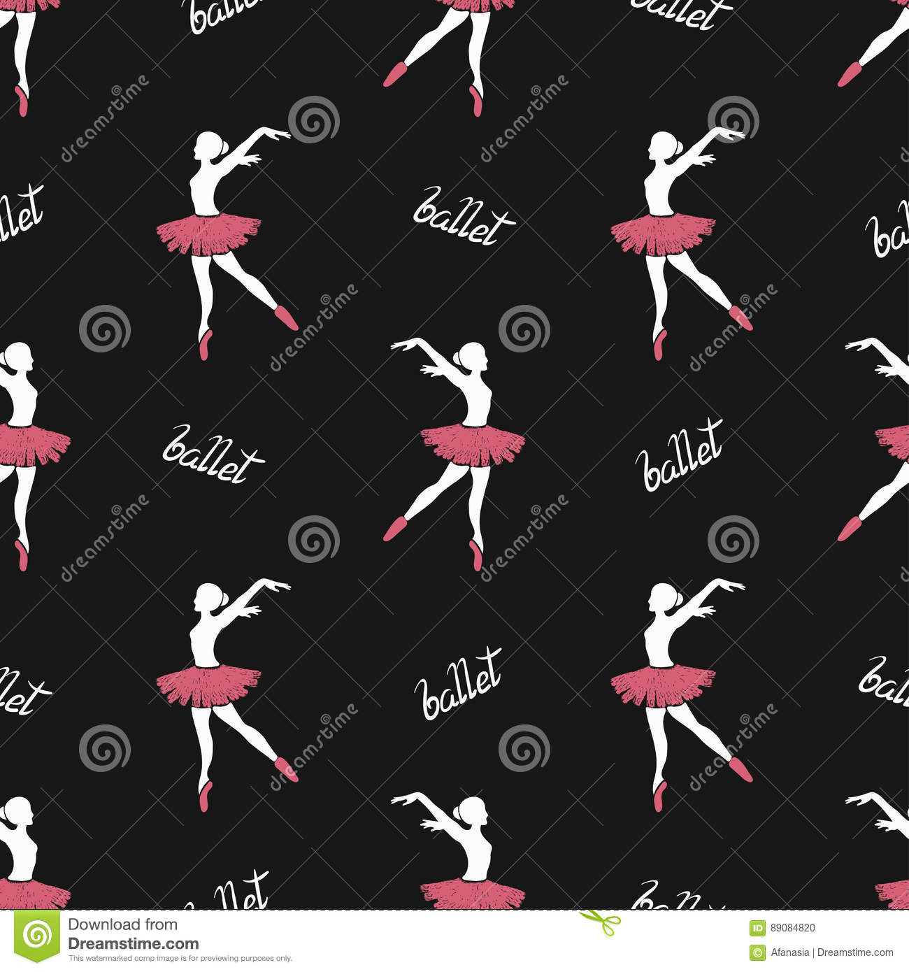 Seamless pattern of ballet dancers royalty free stock photography - Royalty Free Vector Download Ballet Dancers Seamless Pattern