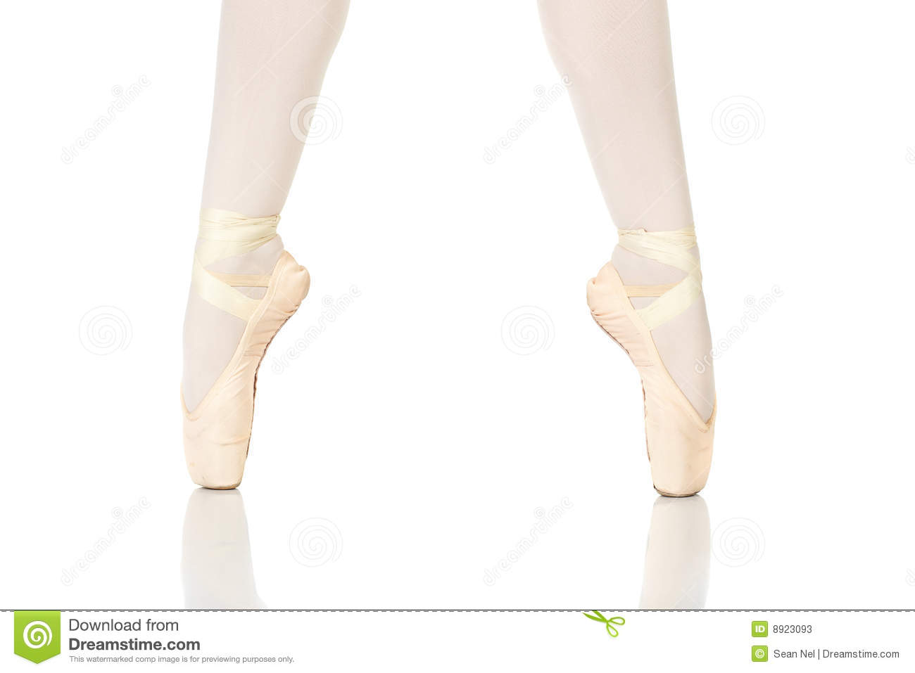 Young female ballet dancer showing various classic ballet feet ...