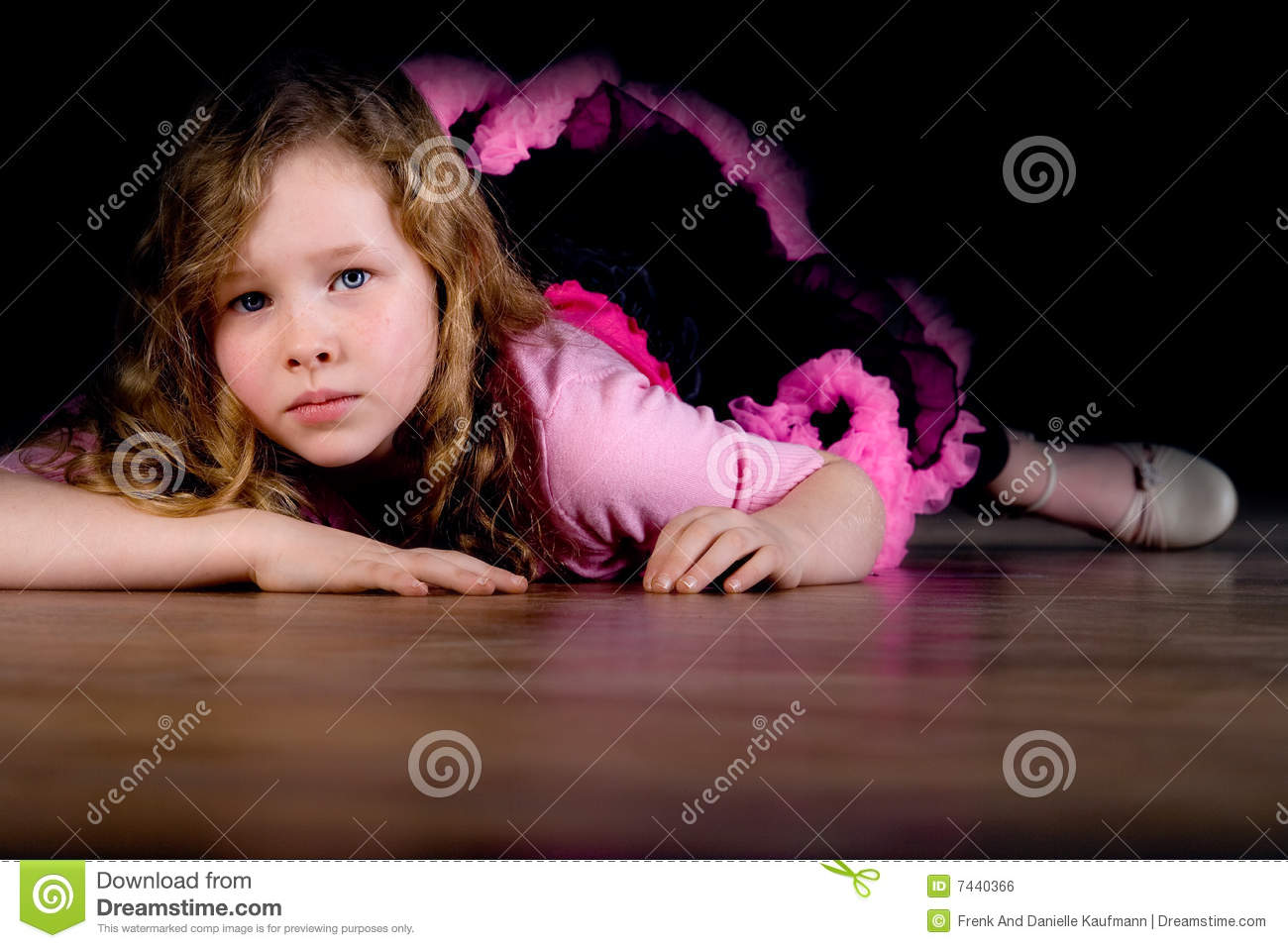 Ballet Girl Is Laying Down Royalty Free Stock Image ...