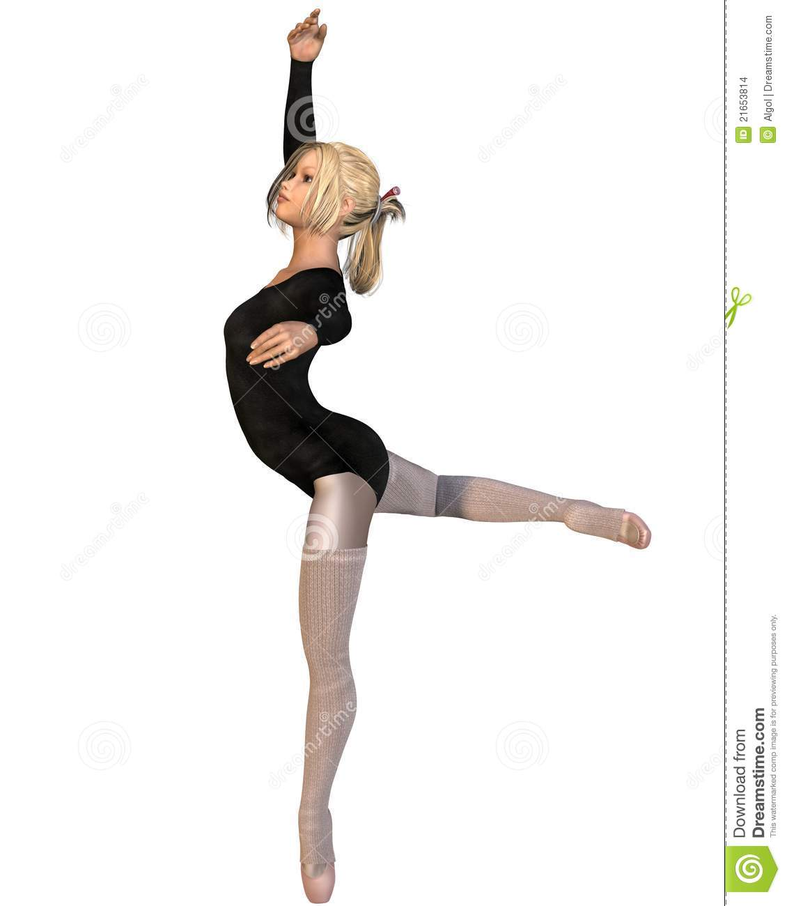 Ballet Practice - Attitude Pose Stock Images - Image: 21653814