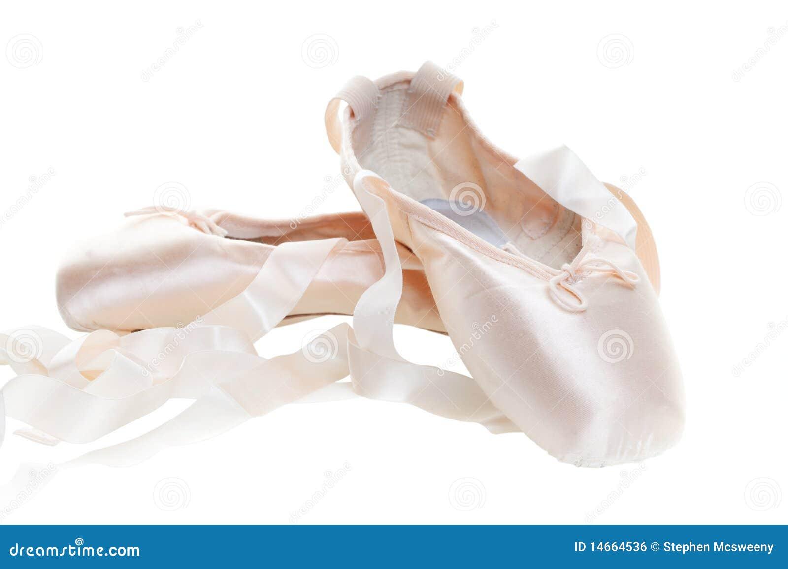 White Ballerina Ribbon Shoes
