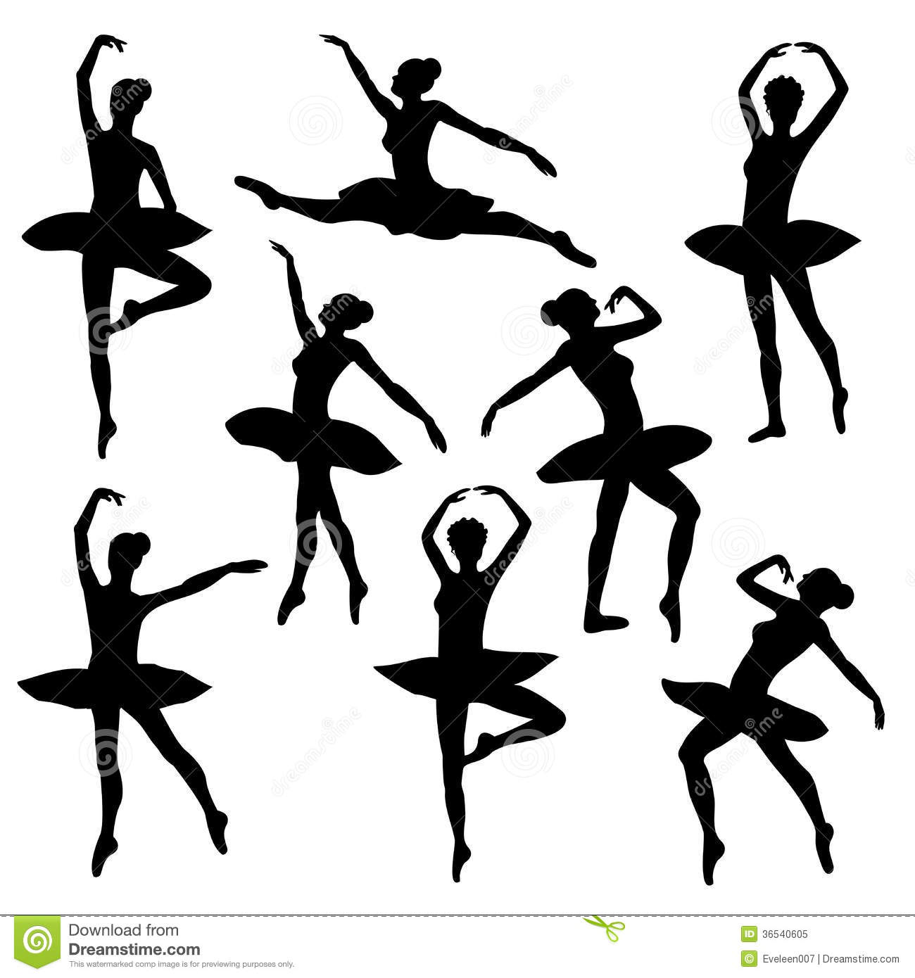 Ballet Silhouette Ballerina Royalty Free Stock Photo - Image: 36540605