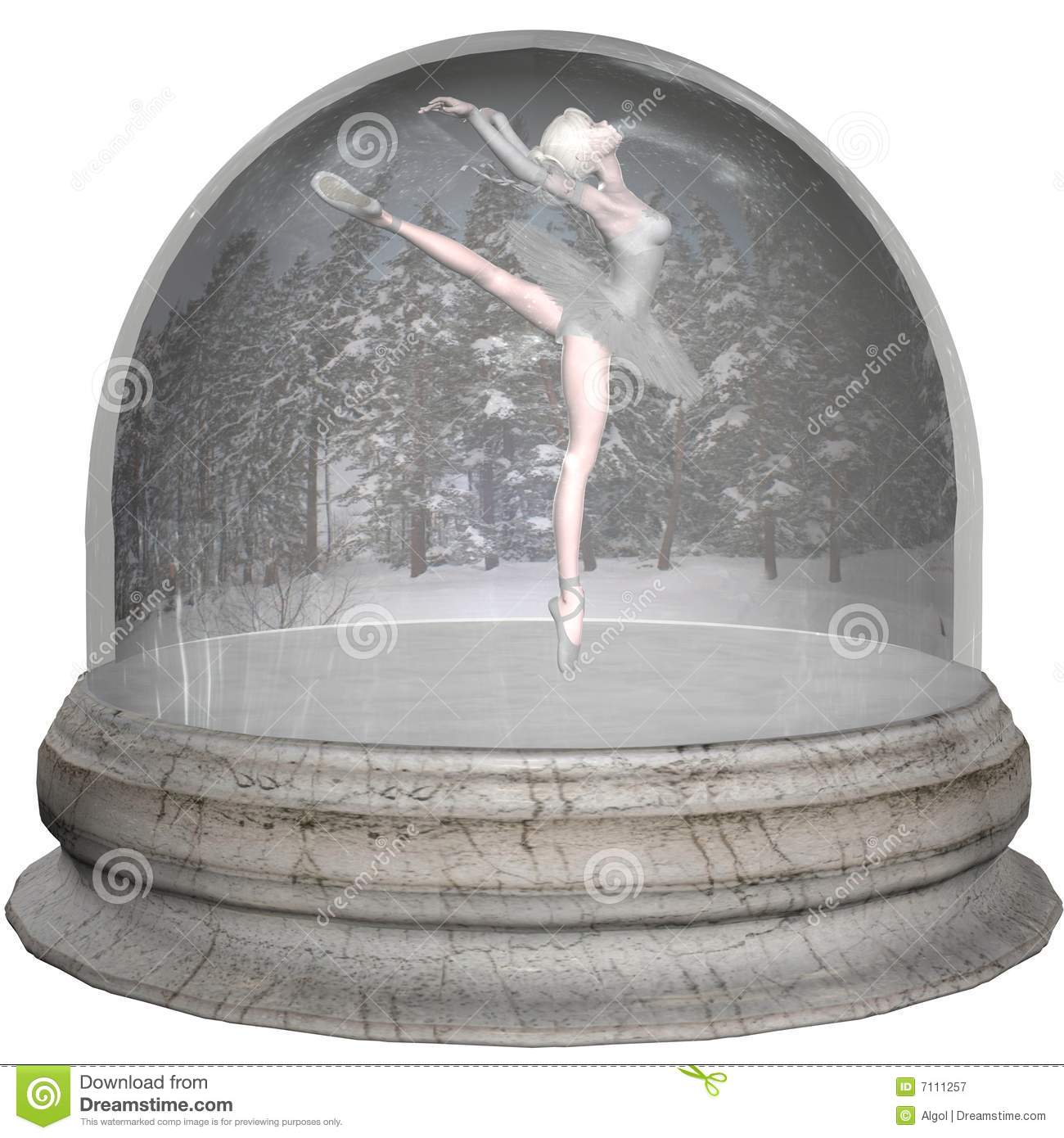 Ballet Snowglobe Royalty Free Stock Photography - Image: 7111257